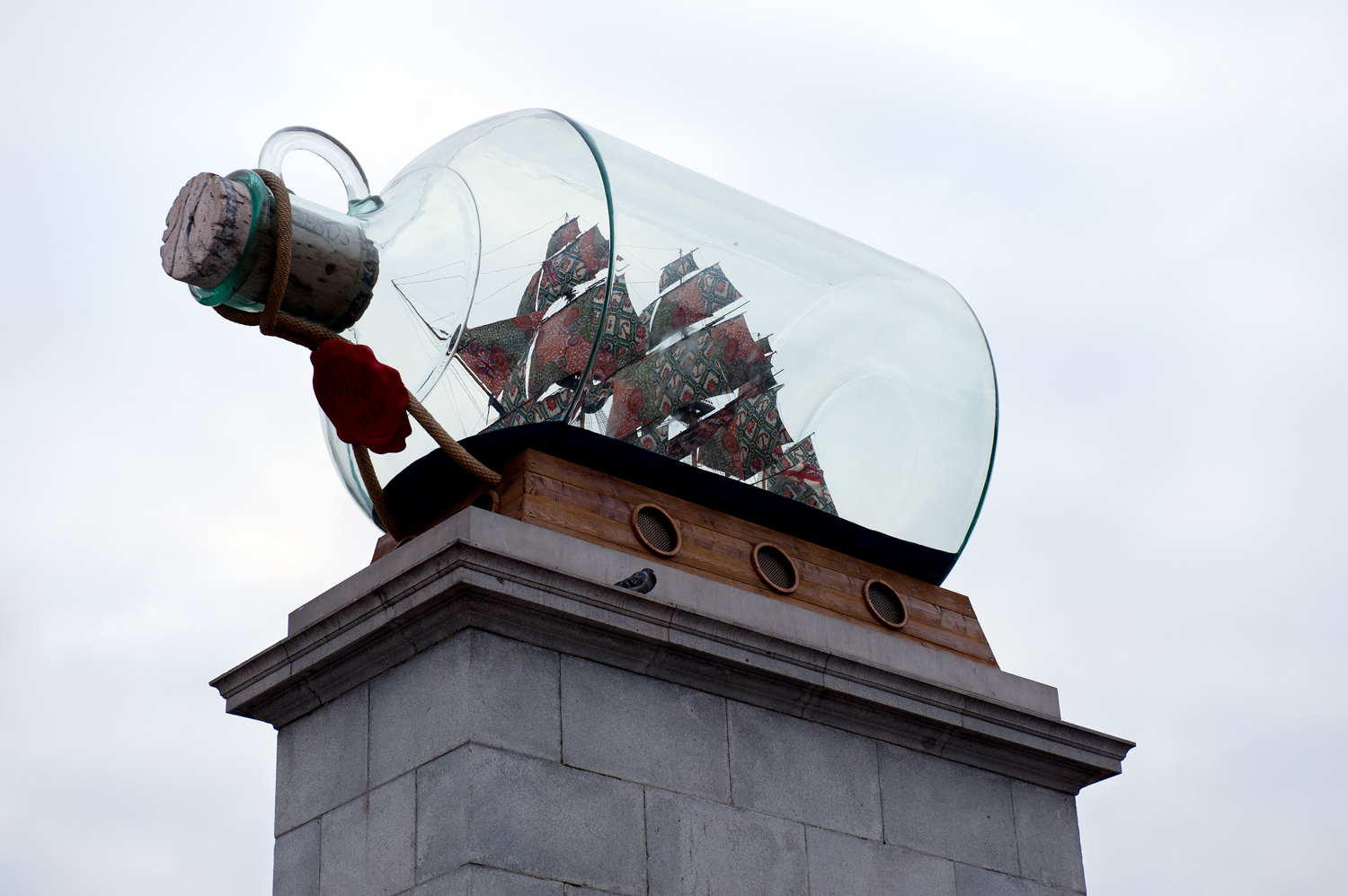 ship in a bottle [trafalgar square, westminster, london, england, 2011]