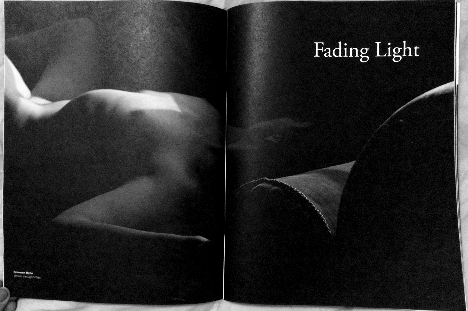 'where the light plays' in shots magazine issue #142: fading light