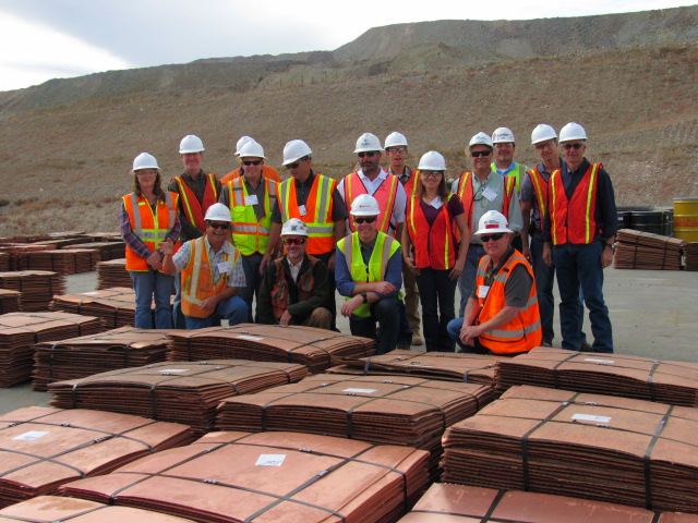 Newmont's Phoenix project. The bundles in the foreground are copper plates that were produced at their SXEW plant.
