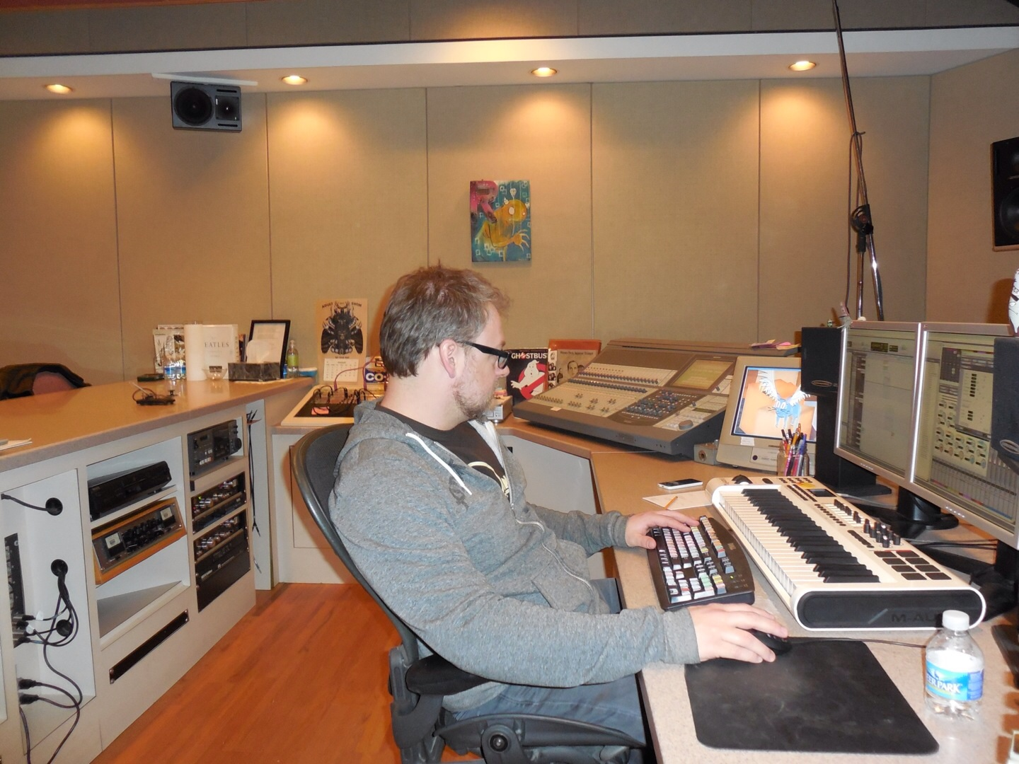 Squidbillies sound designer, Shawn Coleman, working on some new animation