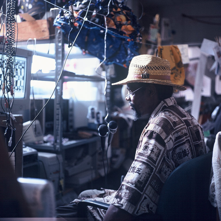 Lonnie Holley In His Studio