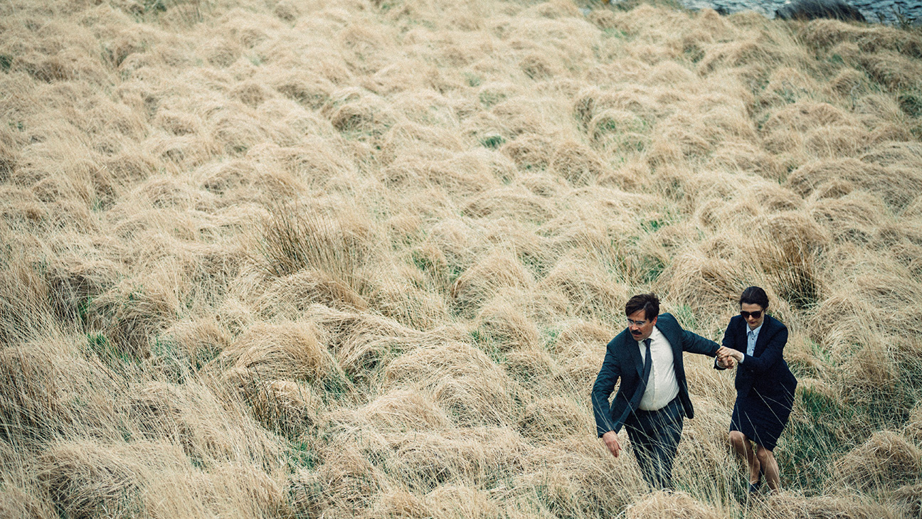Lanthimos often places his actors in the corner of expansive shots.