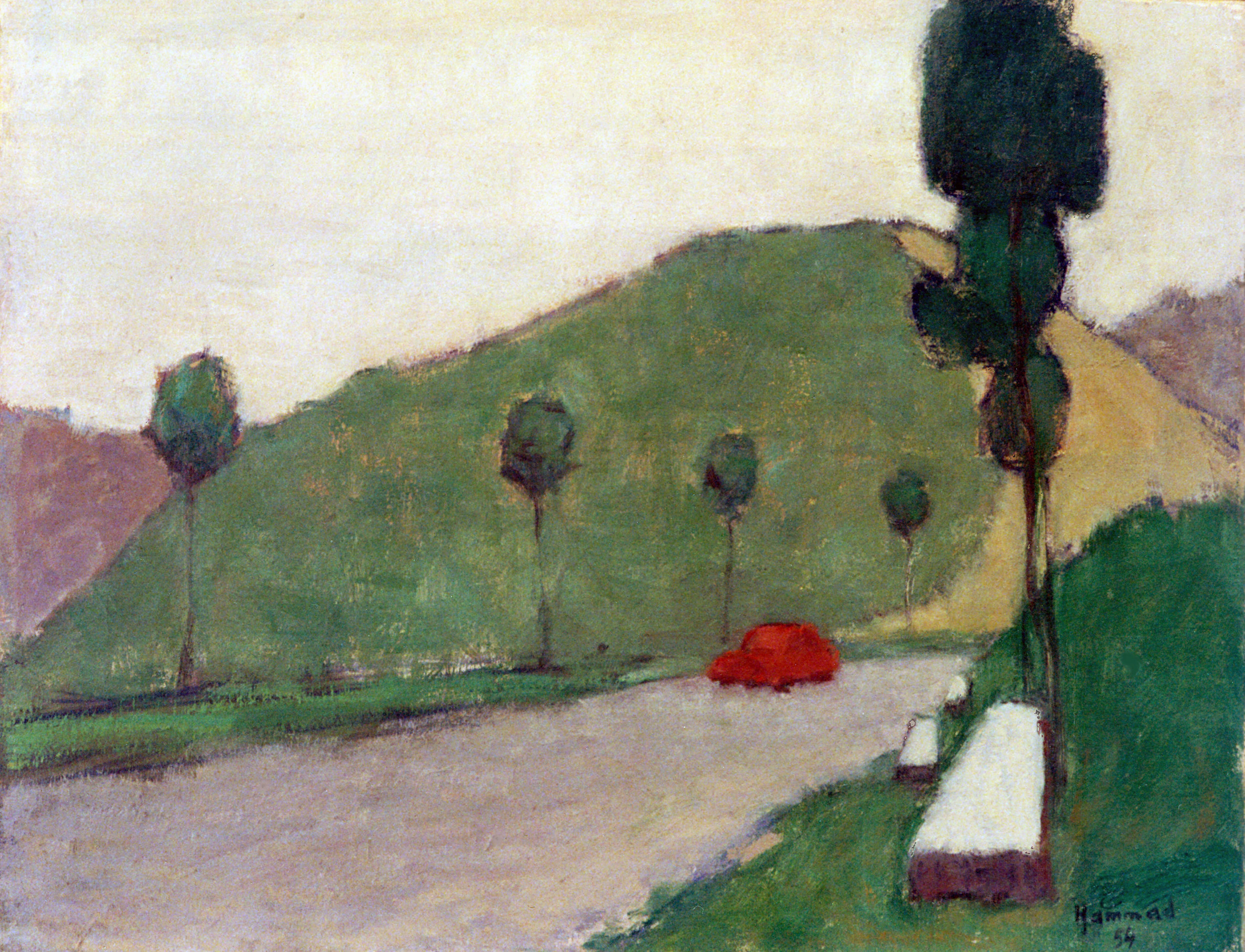 Scene . 1954 . منظر طبيعي