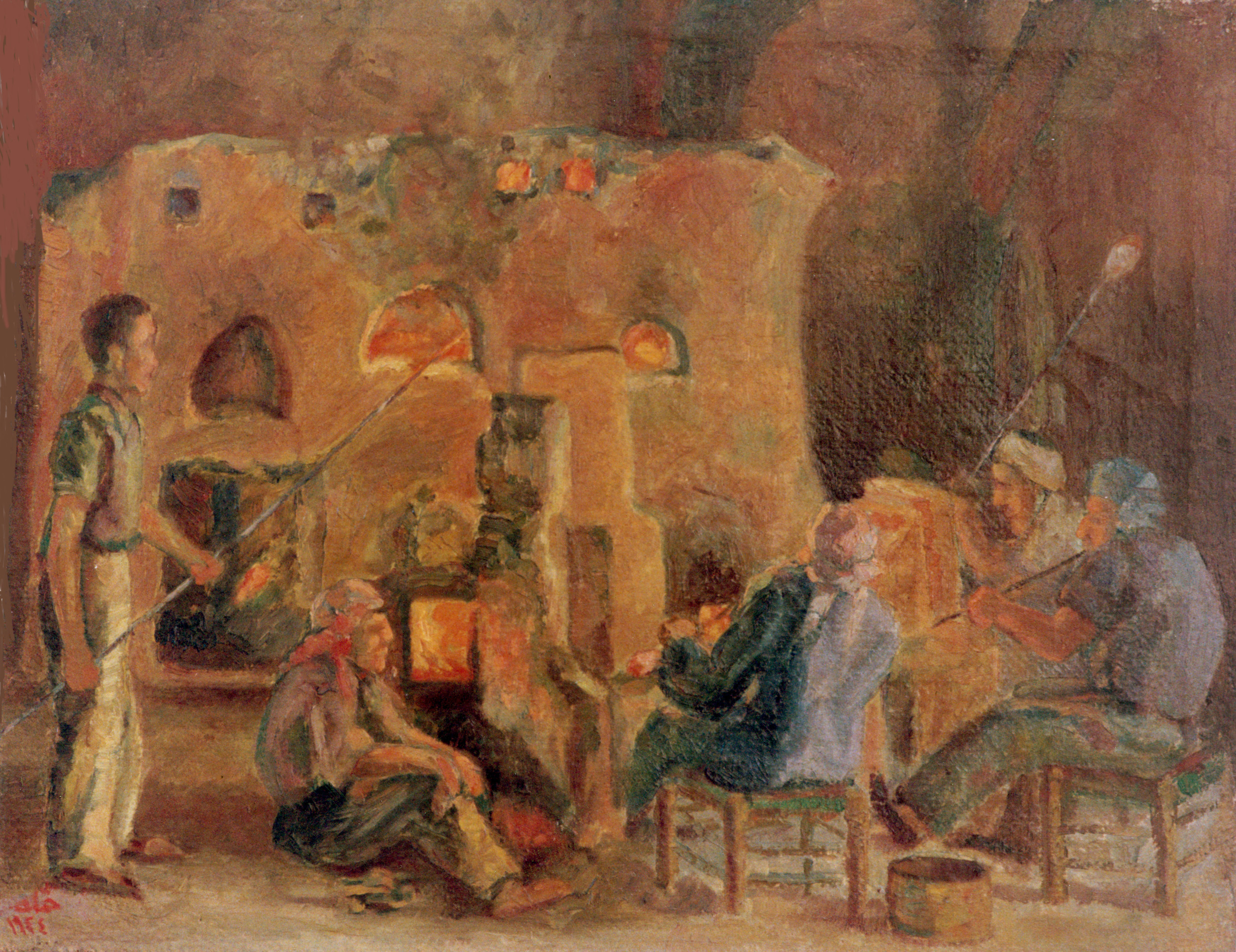 The Glass Factory . 1944 . معمل الزجاج