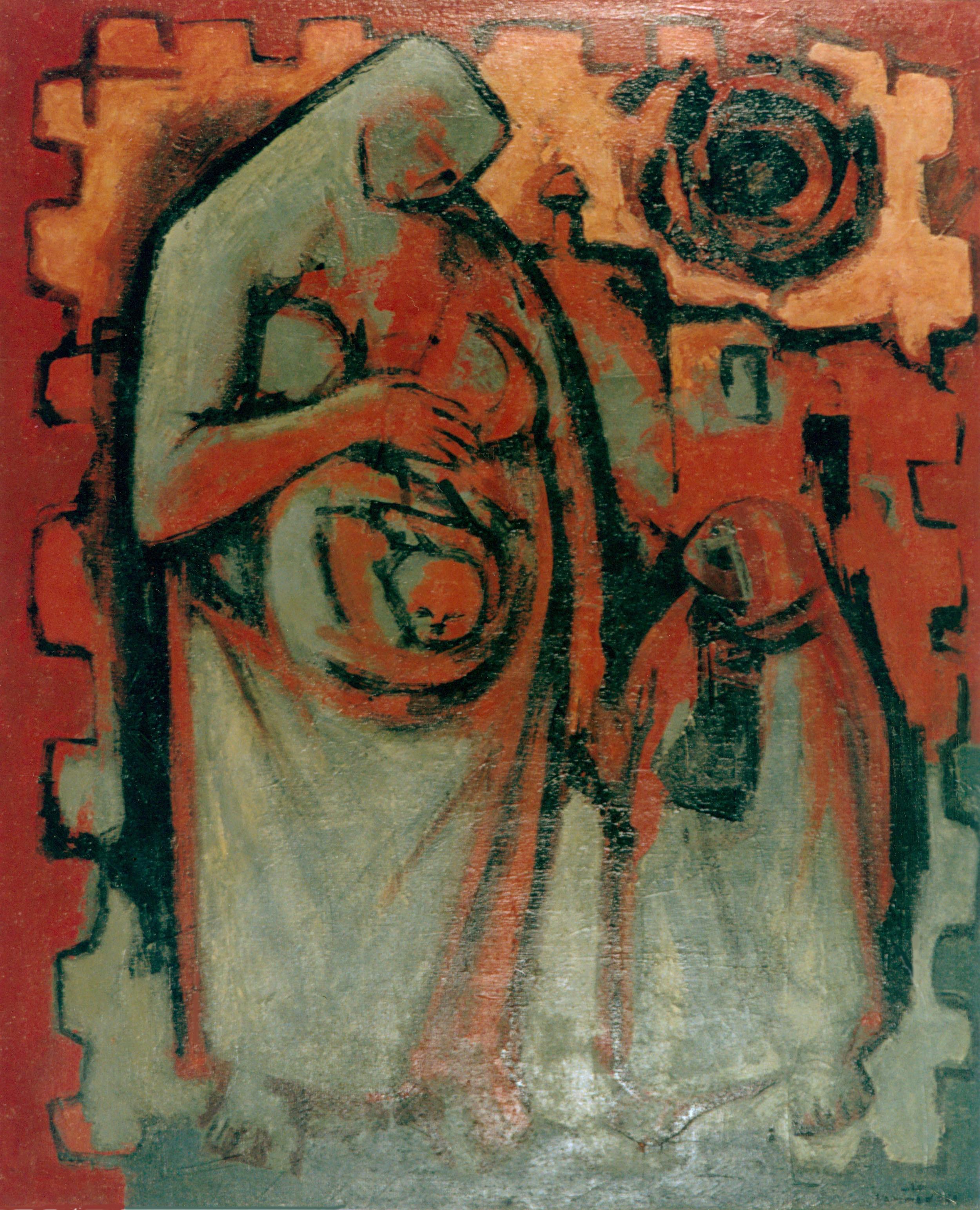 Motherhood In Red . 1963 . أمومة بالاحمر