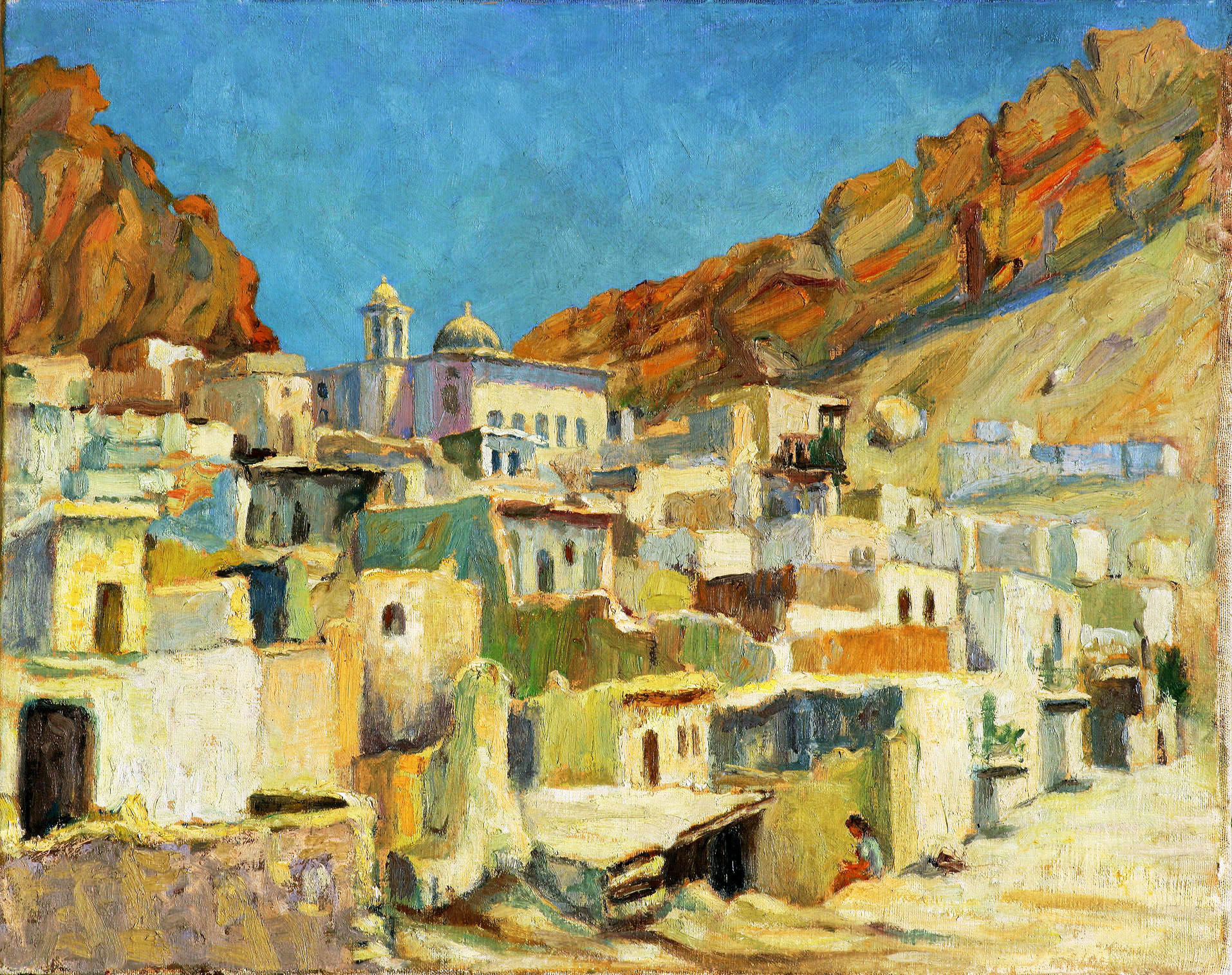 A Village in the Sun . Maaloula . 1951 .  قرية في الشمس . معلولا