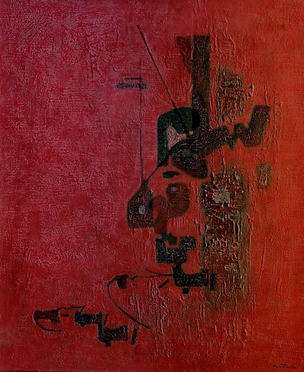 Calligraphy . Salamon Kawlan Min Rabin Raheem . 1964 . سلام قولا من رب رحيم
