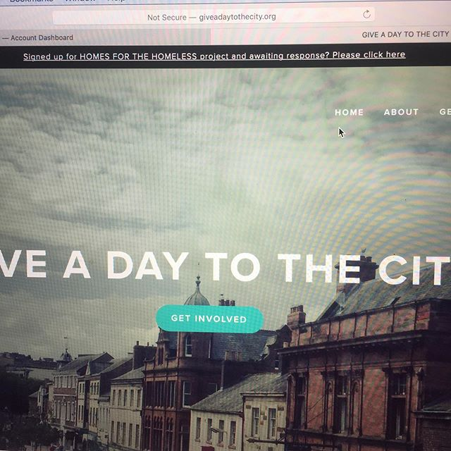 Did you sign up for the @giveadaytothecity Homes for the Homeless project?  We've just realised there was an error with the email address on this form so they didn't get your email!  Check out @giveadaytothecity or head to the Give A Day website to contact them directly to let them know you'd love to help!  Let's create these homes for the homeless!!