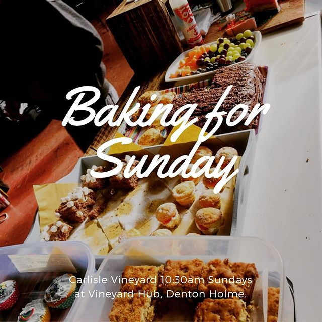 Thanks amazing bakers and bringers of all baked goodies each Sunday. For anyone who would love to bake for this Sunday gathering, that would be amazing! Thanks #bakeacake #yummytreats #welovecarlisle #carlislevineyard
