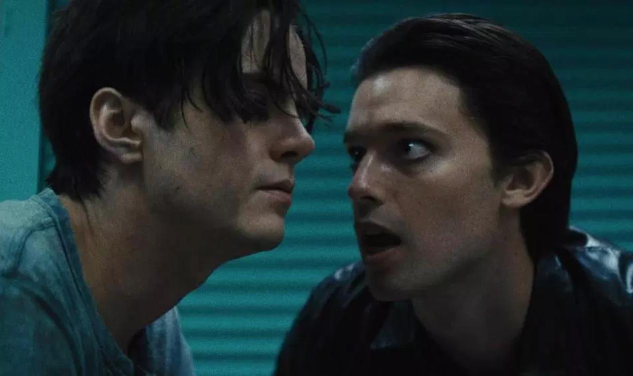 "Miles Robbins & Patrick Schwartzenegger in ""Daniel Isn't Real"""