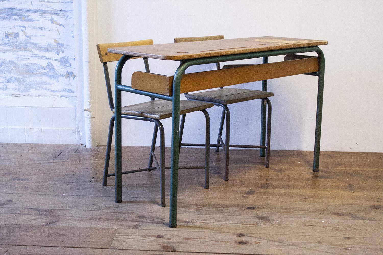 School Tafel En Stoel.3013 Vintage Schooltafel Met Stoelen Firma Zoethout