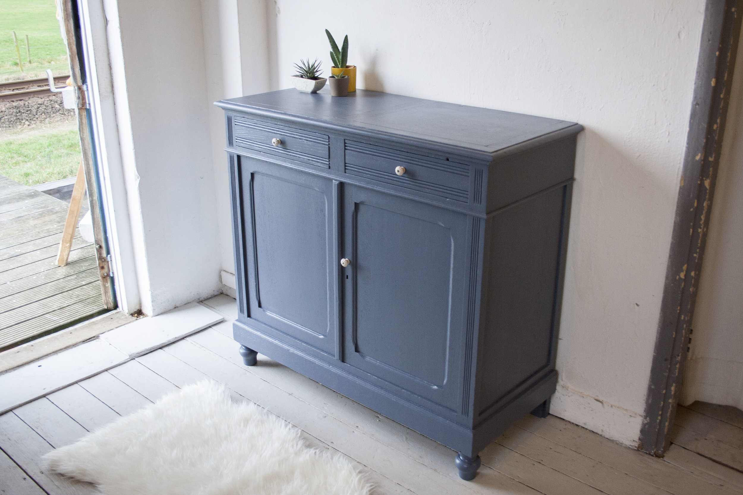 Denim blauwe vintage commode_1.jpg