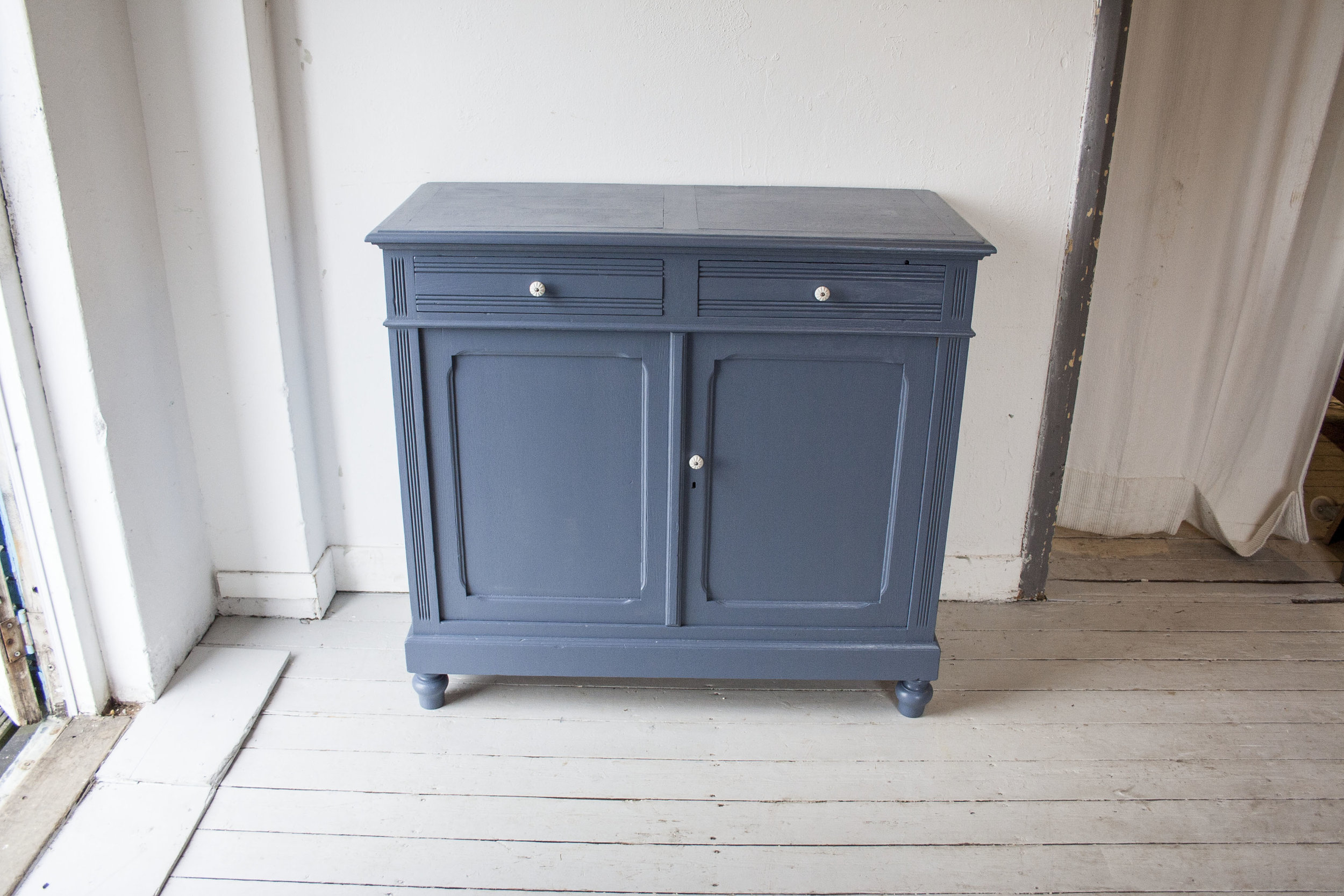 Denim blauwe vintage commode_4.jpg