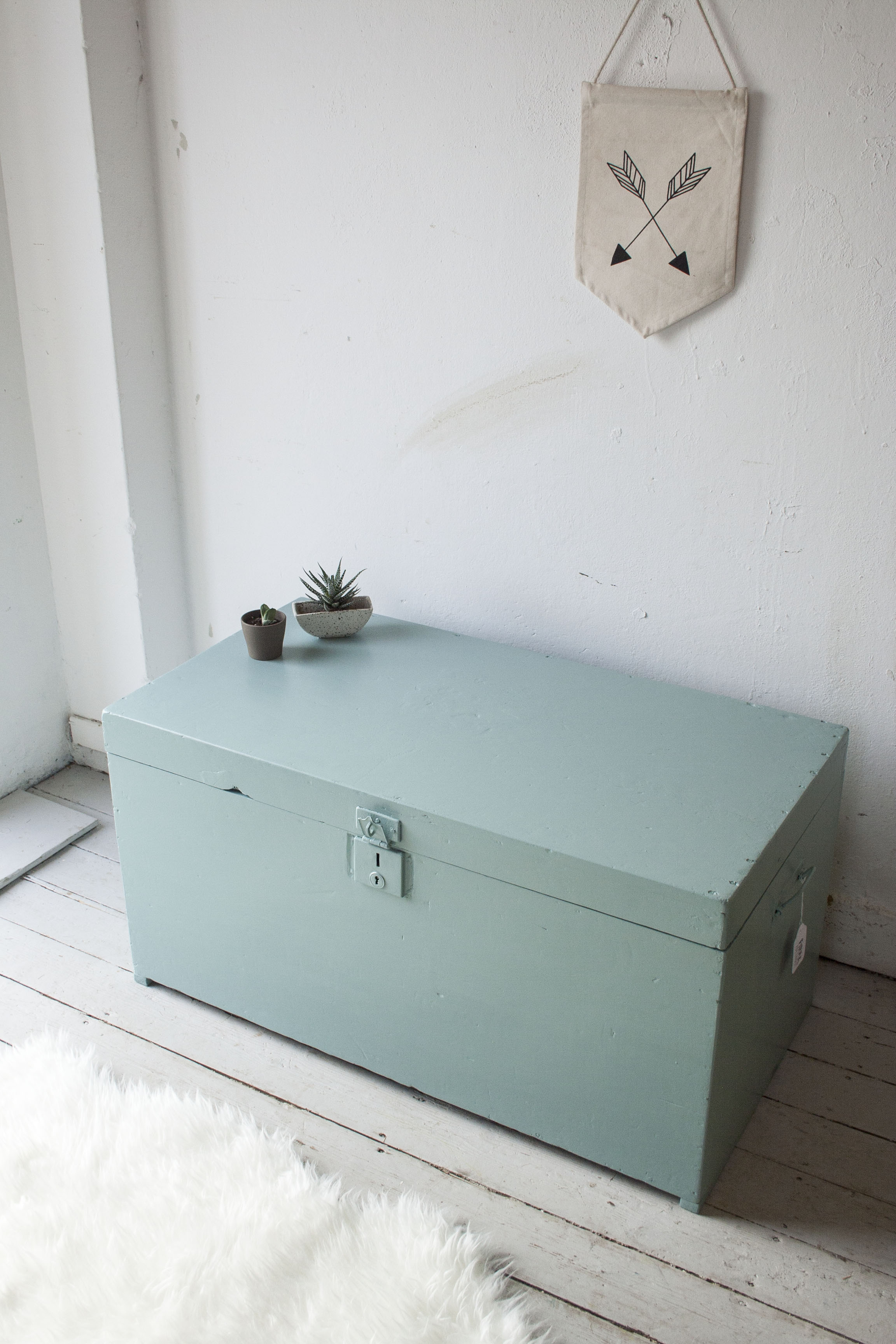 Vintage blauwgroene kist - Firma Zoethout.jpg