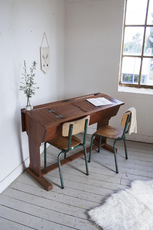 Houten vintage schooltafel - Firma Zoethout_1.jpg