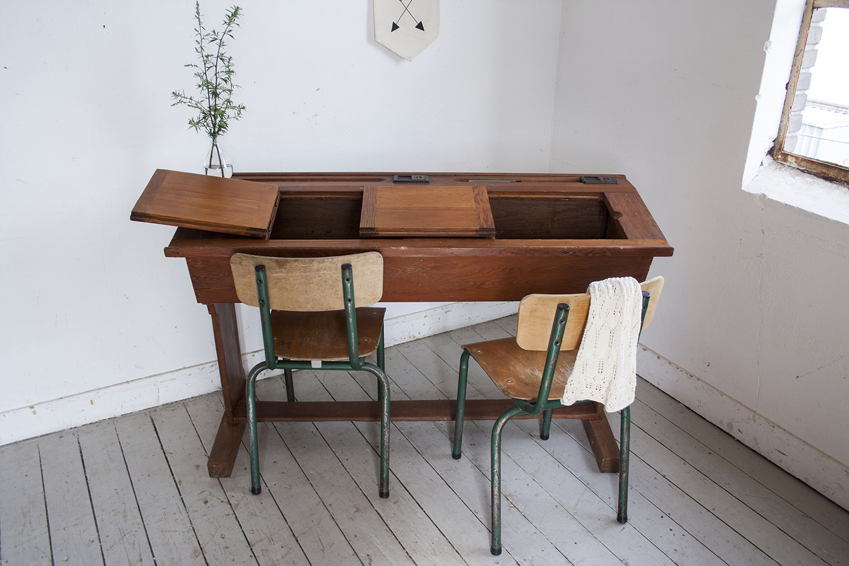 Houten vintage schooltafel - Firma Zoethout_3.jpg