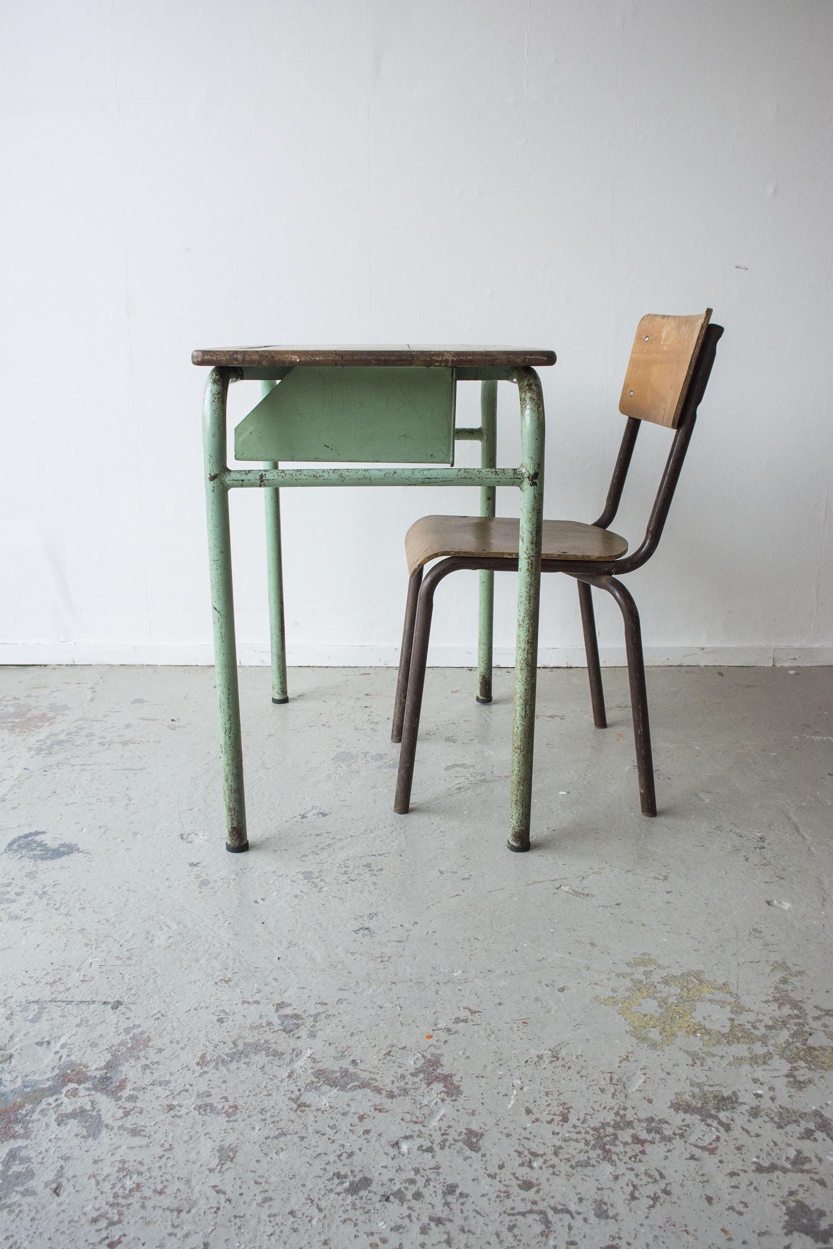 1persoons vintage schooltafeltje - Firma Zoethout_6.jpg
