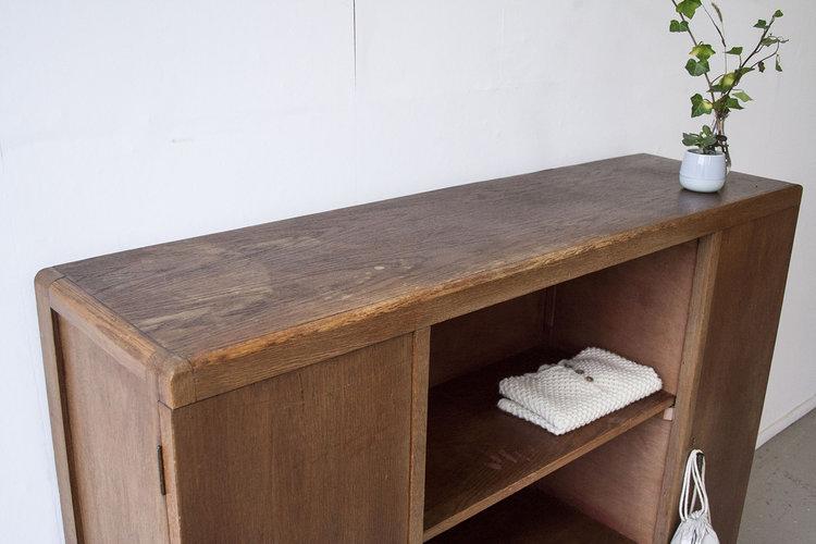 1283 Houten Vintage Boekenkastje Firma Zoethout