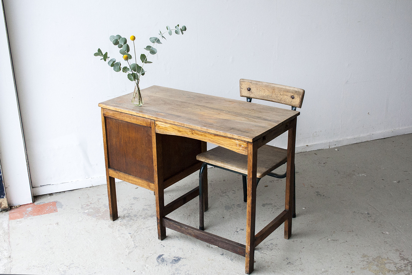 Leuk Houten Bureautje.3123 Houten Vintage Bureautje Firma Zoethout