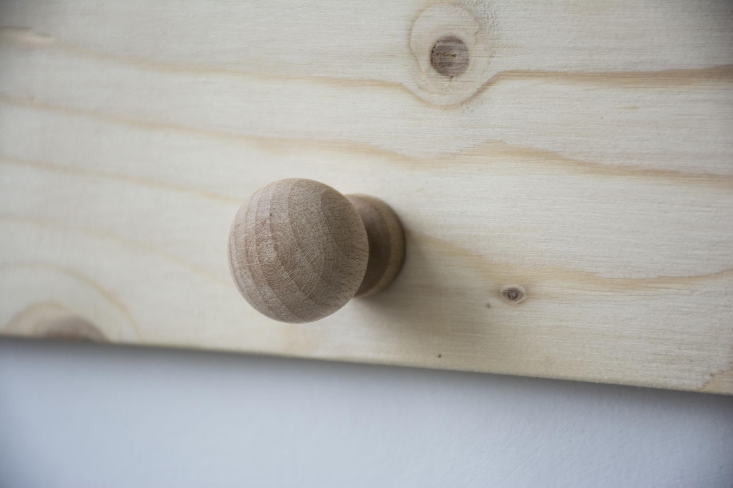 Knopje naturel berkenhout