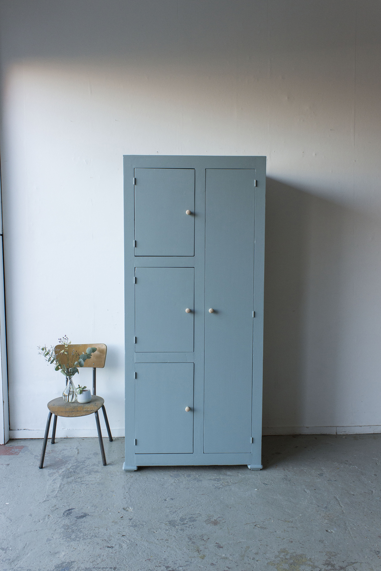 Kust blauwe vintage kledingkast -  Firma zoethout_5.jpg