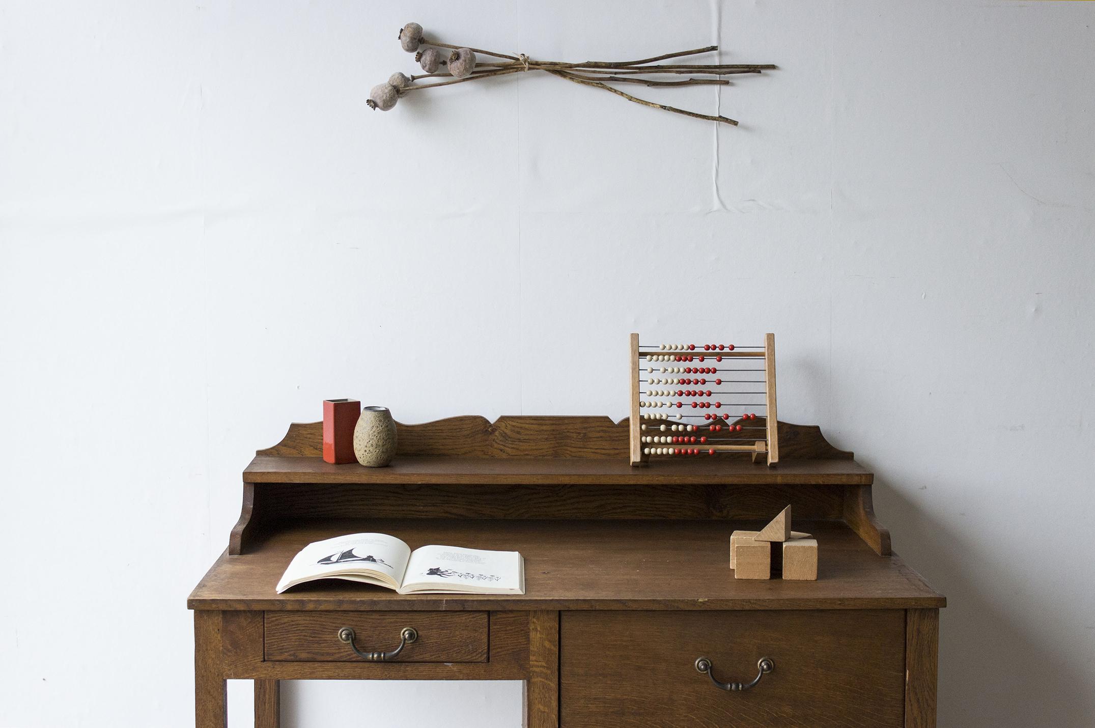 3159 - eikenhouten vintage bureau - Firma zoethout_1.jpg