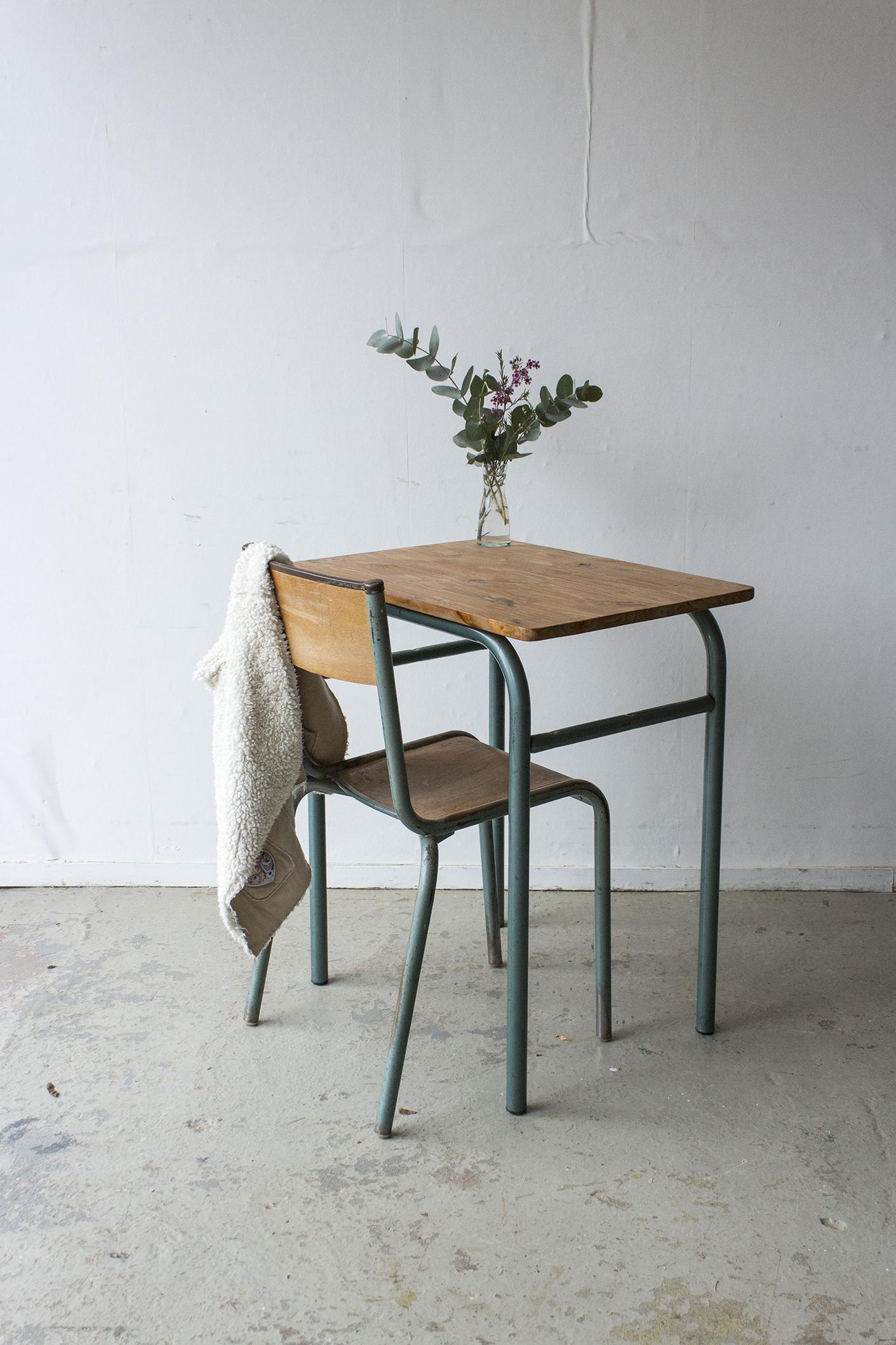 3176 - 1p vintage schooltafel met groen frame - Firma zoethout_3.jpg