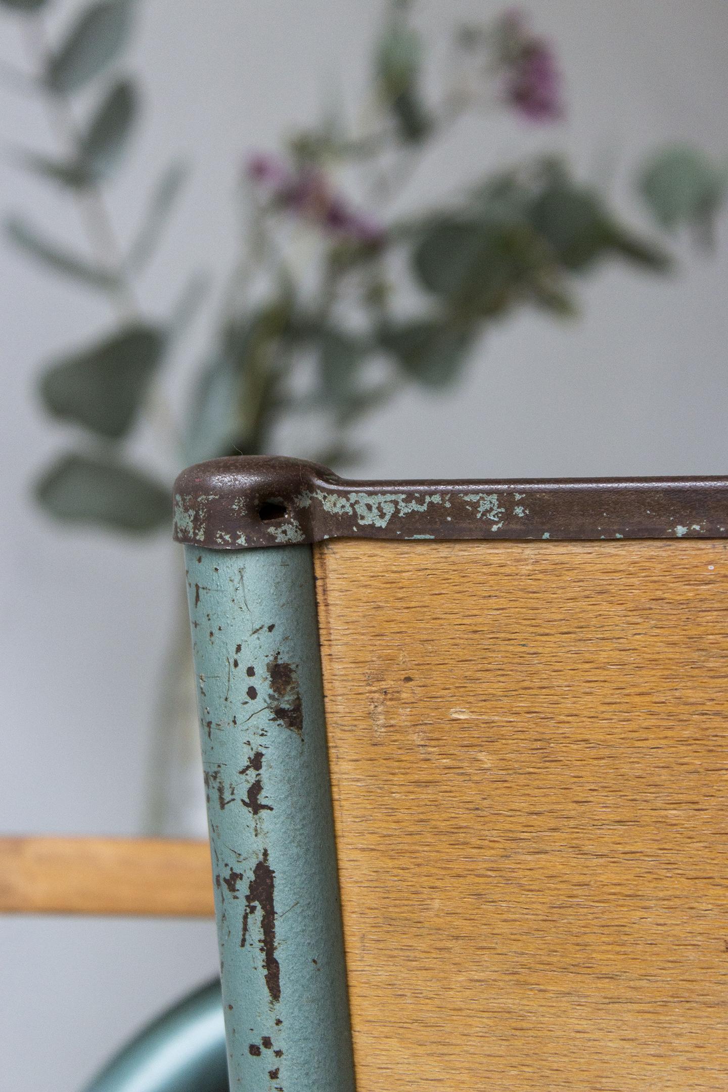 3176 - 1p vintage schooltafel met groen frame - Firma zoethout_4.jpg