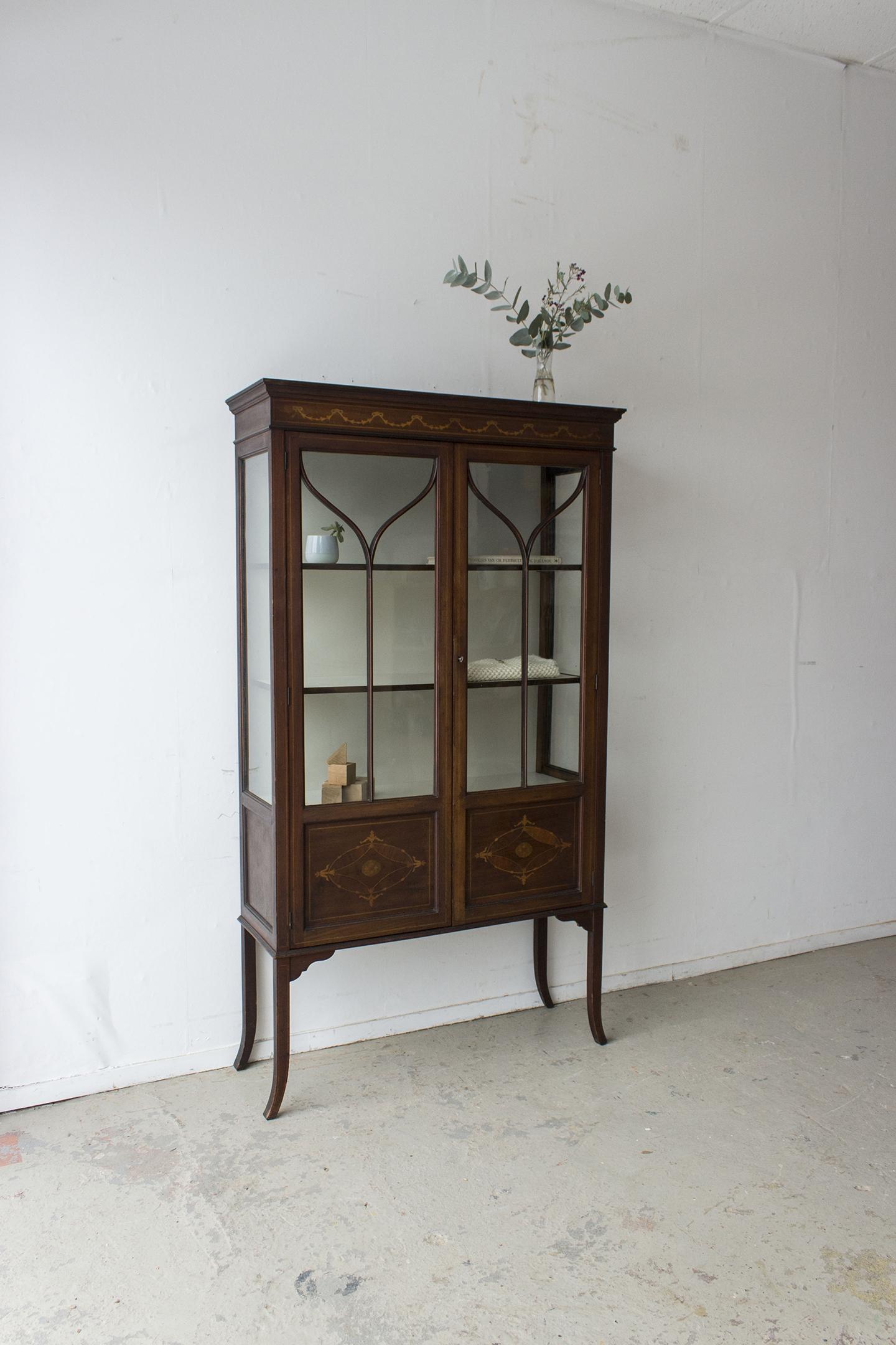 1486 - Vintage vitrinekastje uit Engeland - Firma Zoethout_4.jpg