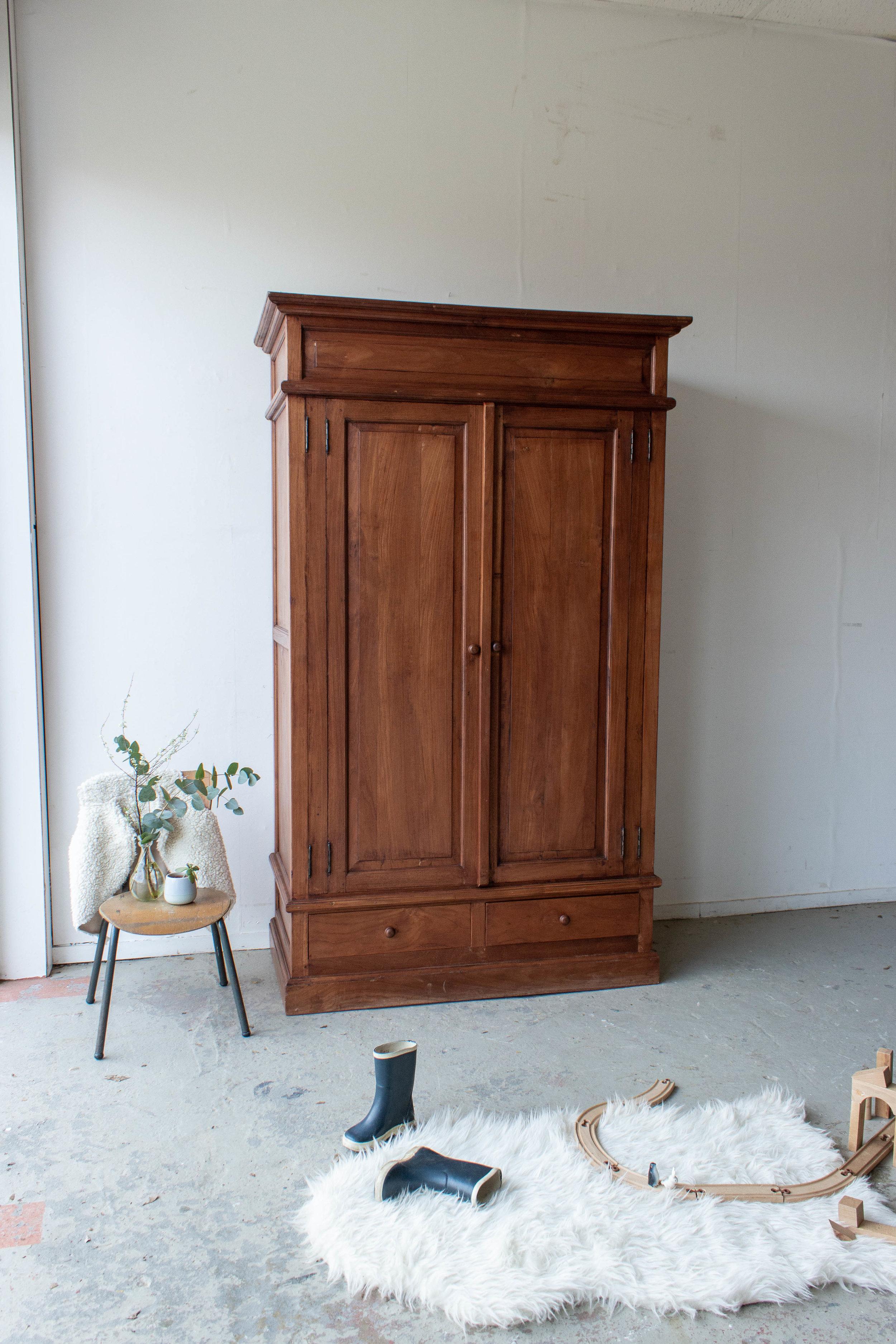 1483 - Vintage meidenkast van hout-2.jpg