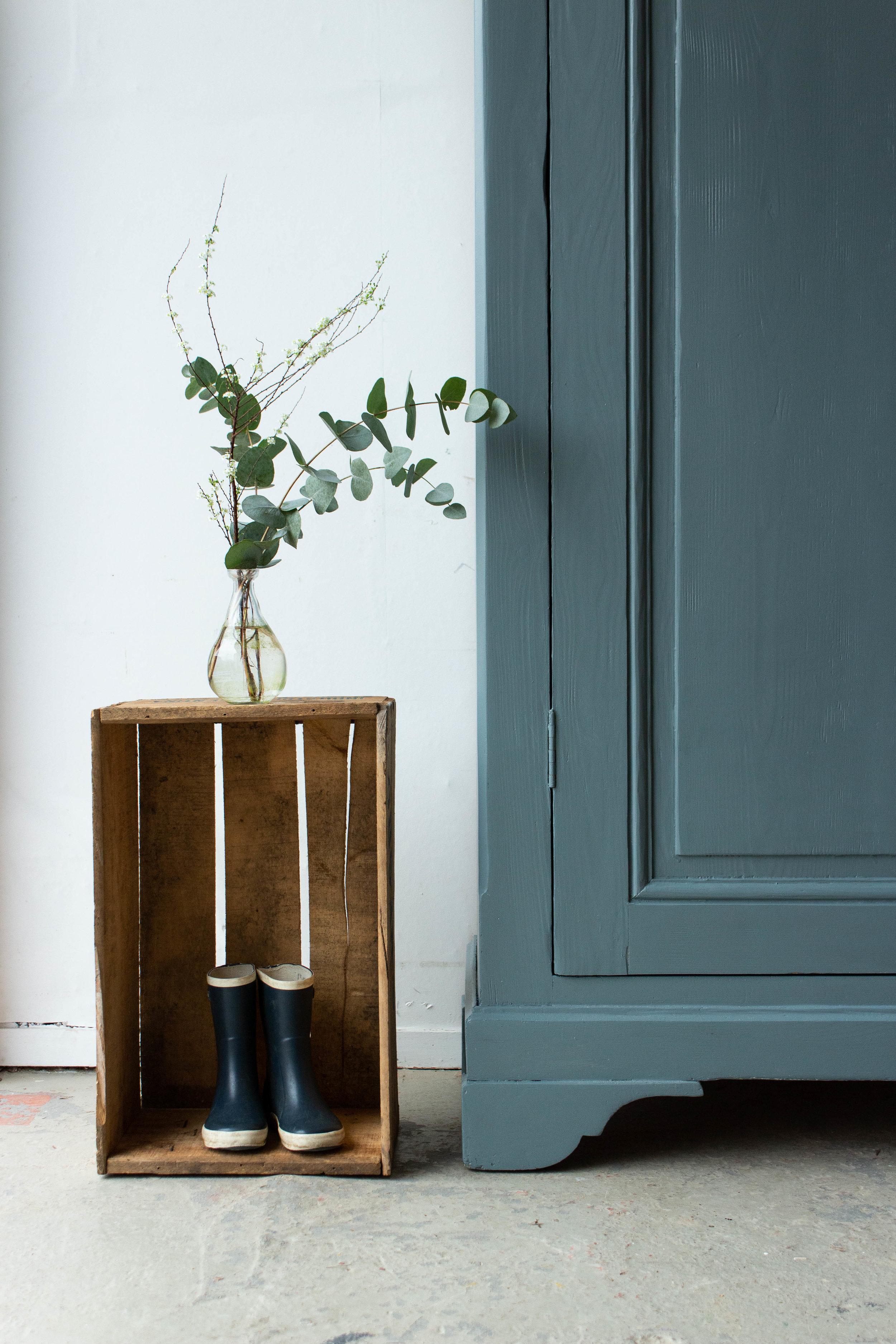1465 - Grijsblauwe vintage kledingkast-3.jpg