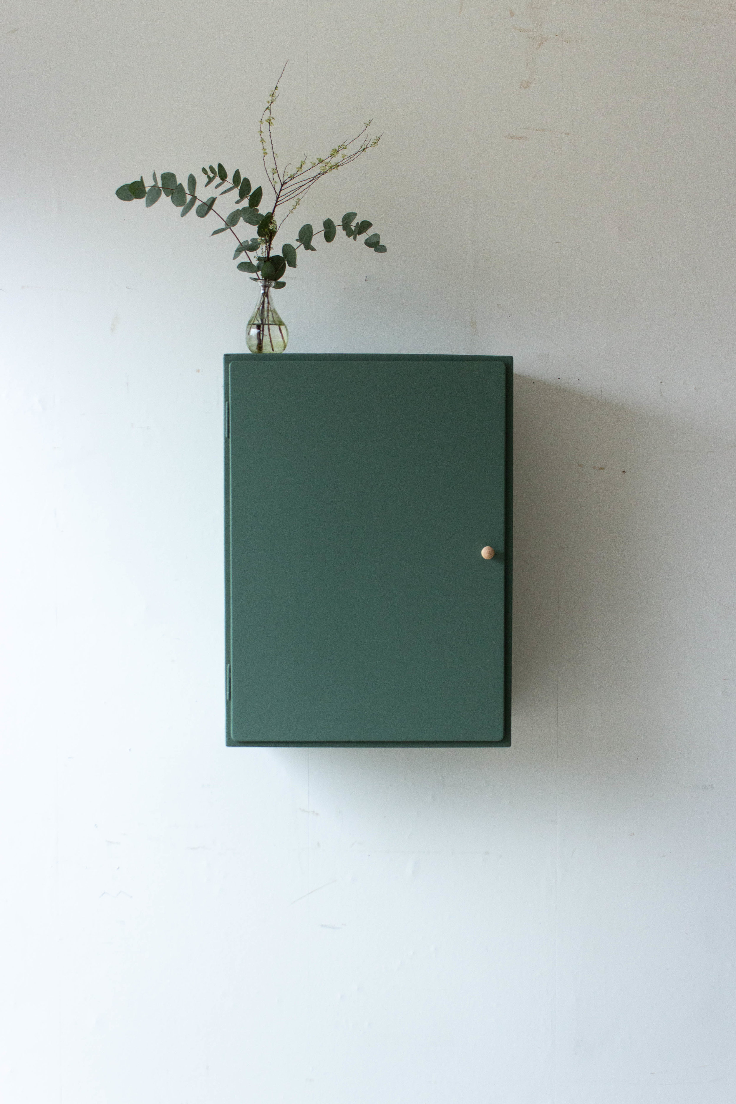 6035 - Dennengroen wadkastje met houten knop-5.jpg