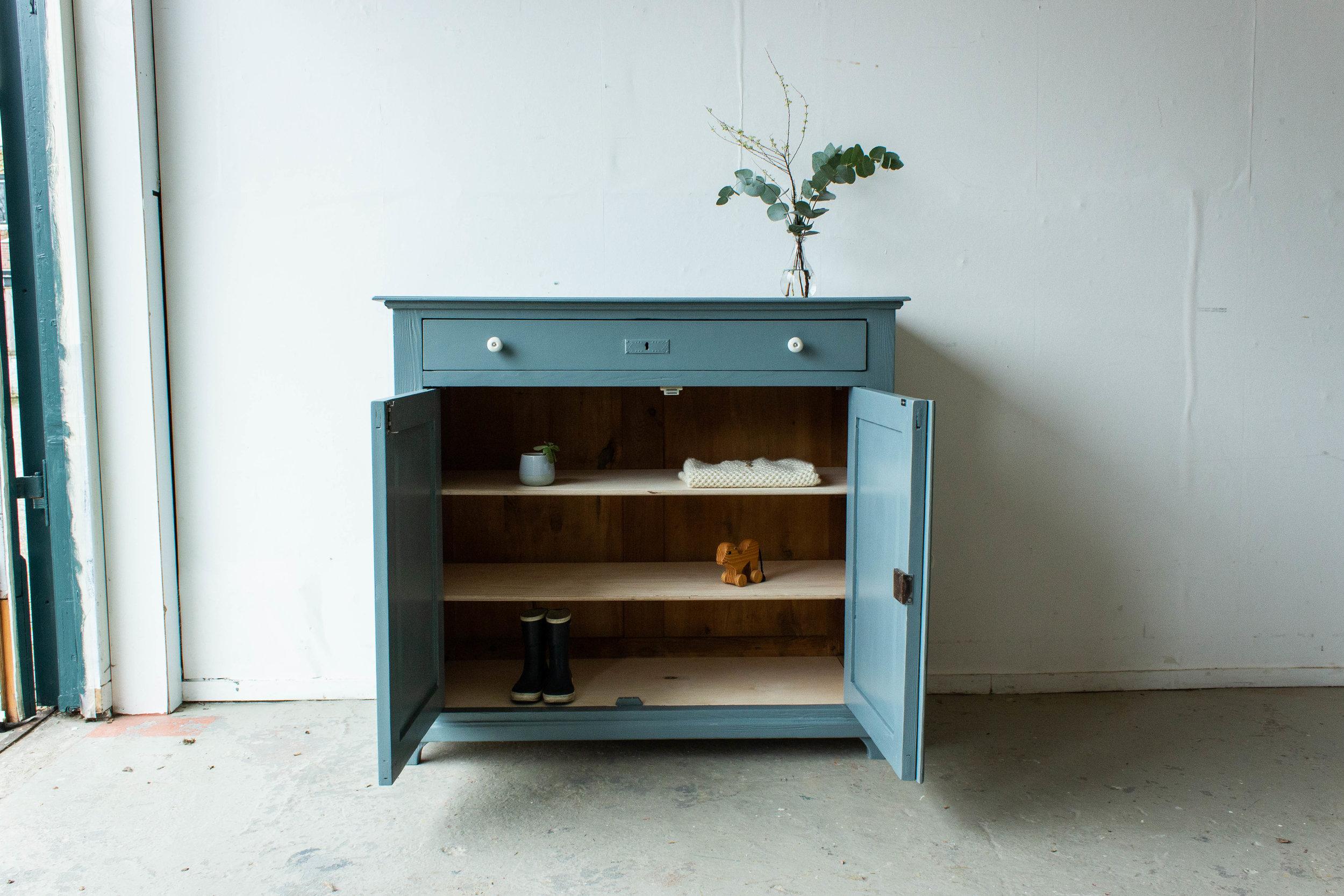 2184 - Grijsblauwe vintage commode-5.jpg