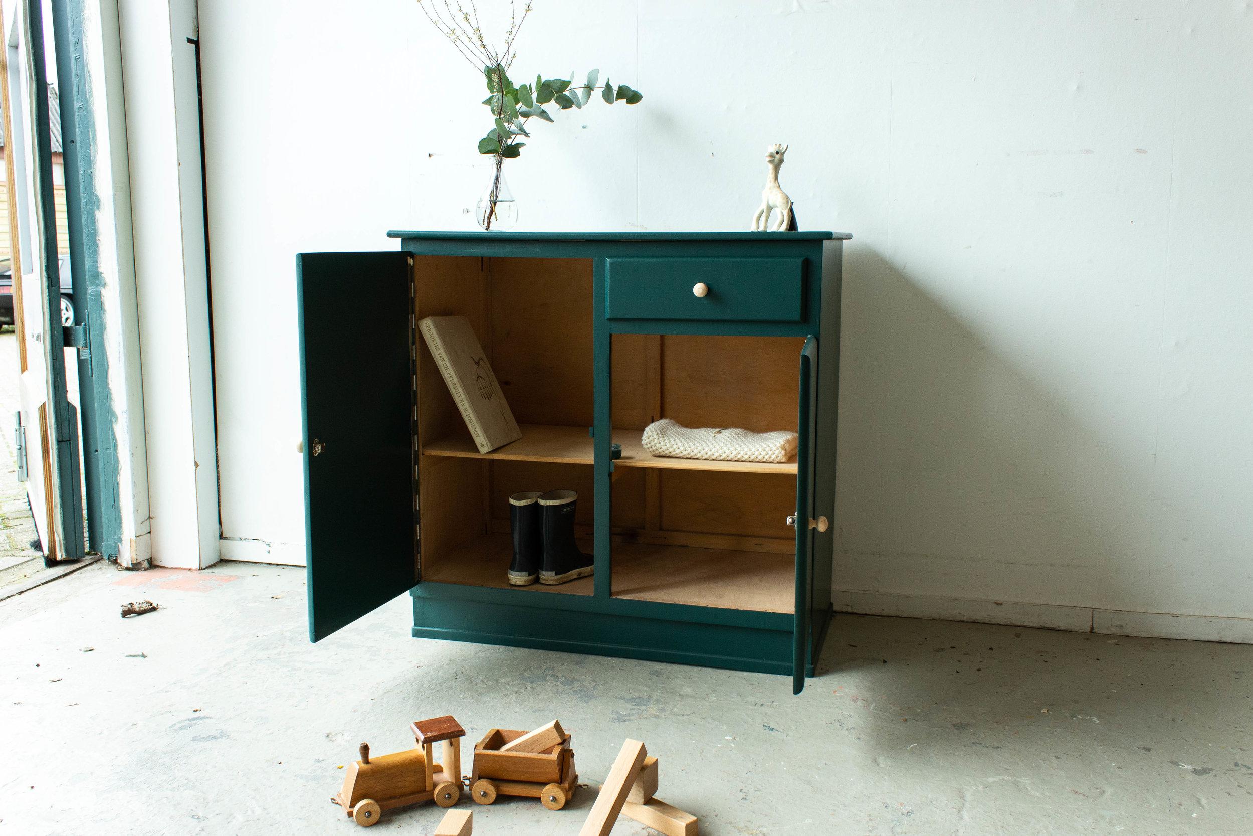 1450 - Groen vintage speelgoedkastje-3.jpg