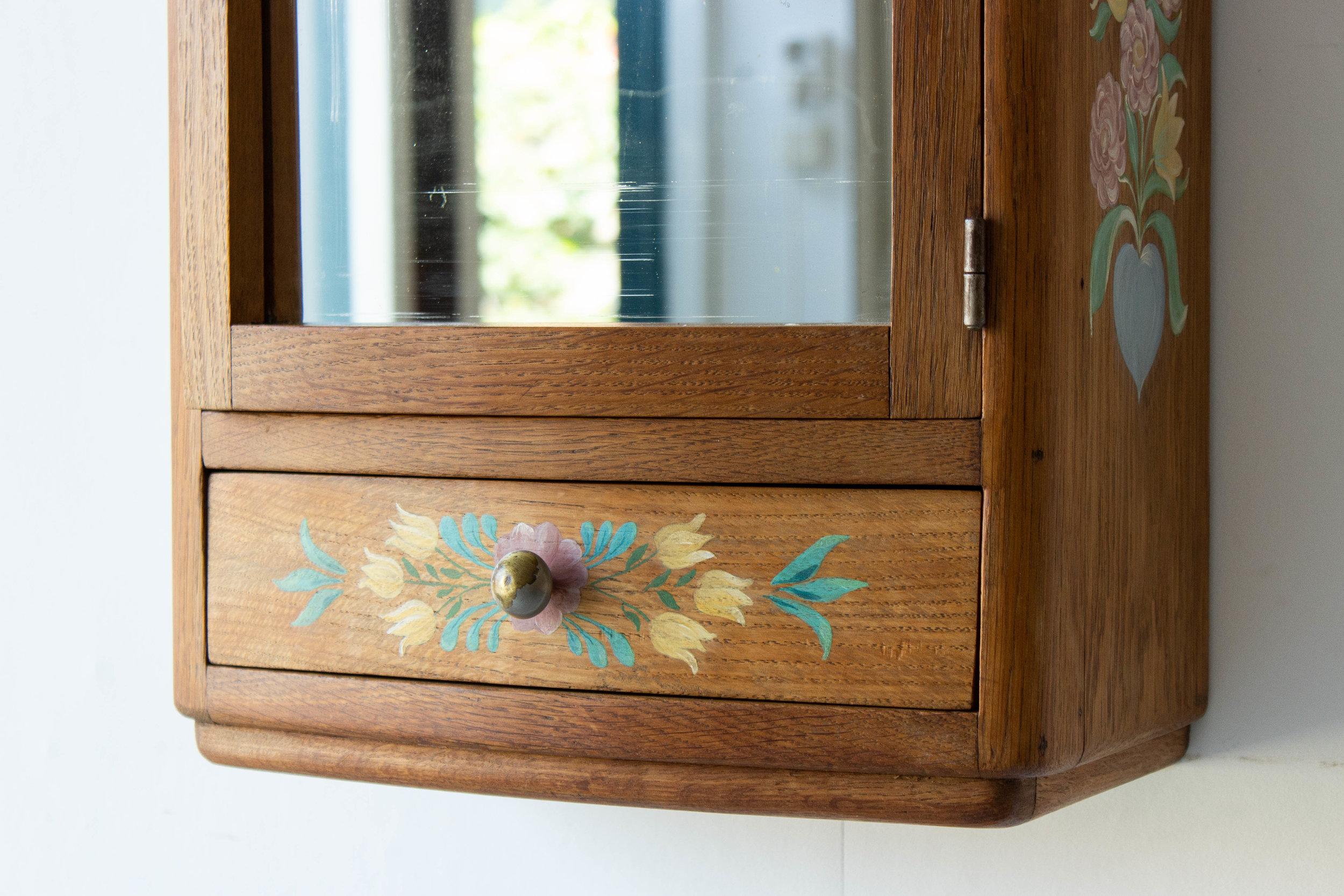 6054 - Vintage spiegelkastje met vogel-4.jpg