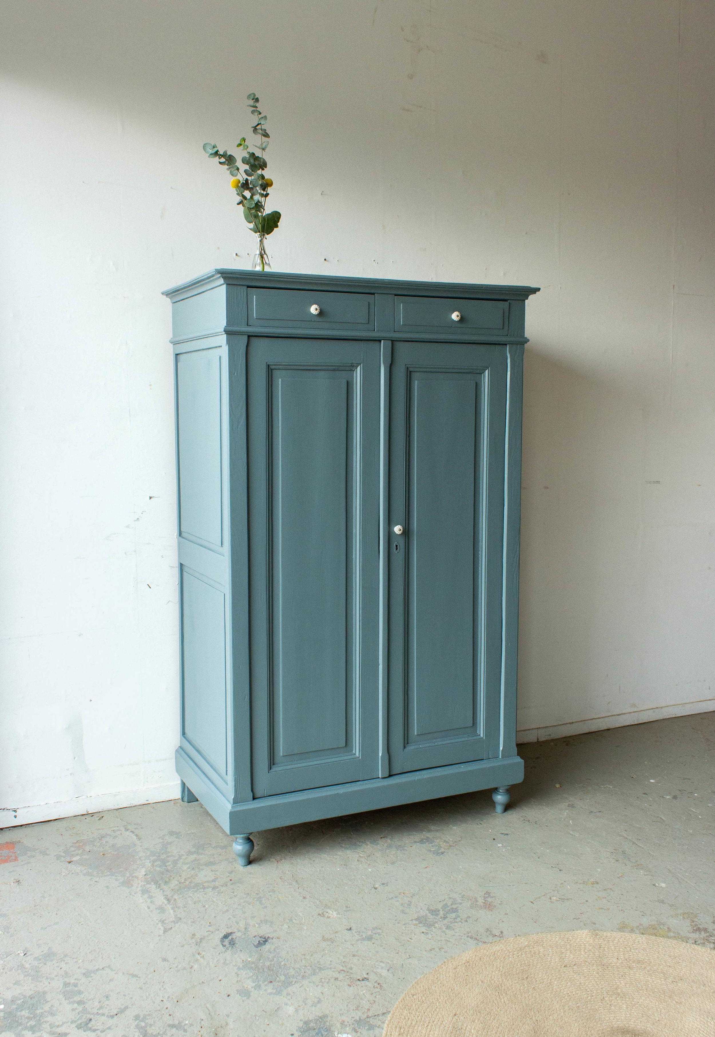 1491 - Grijsblauwe vintage meidenkast-5.jpg