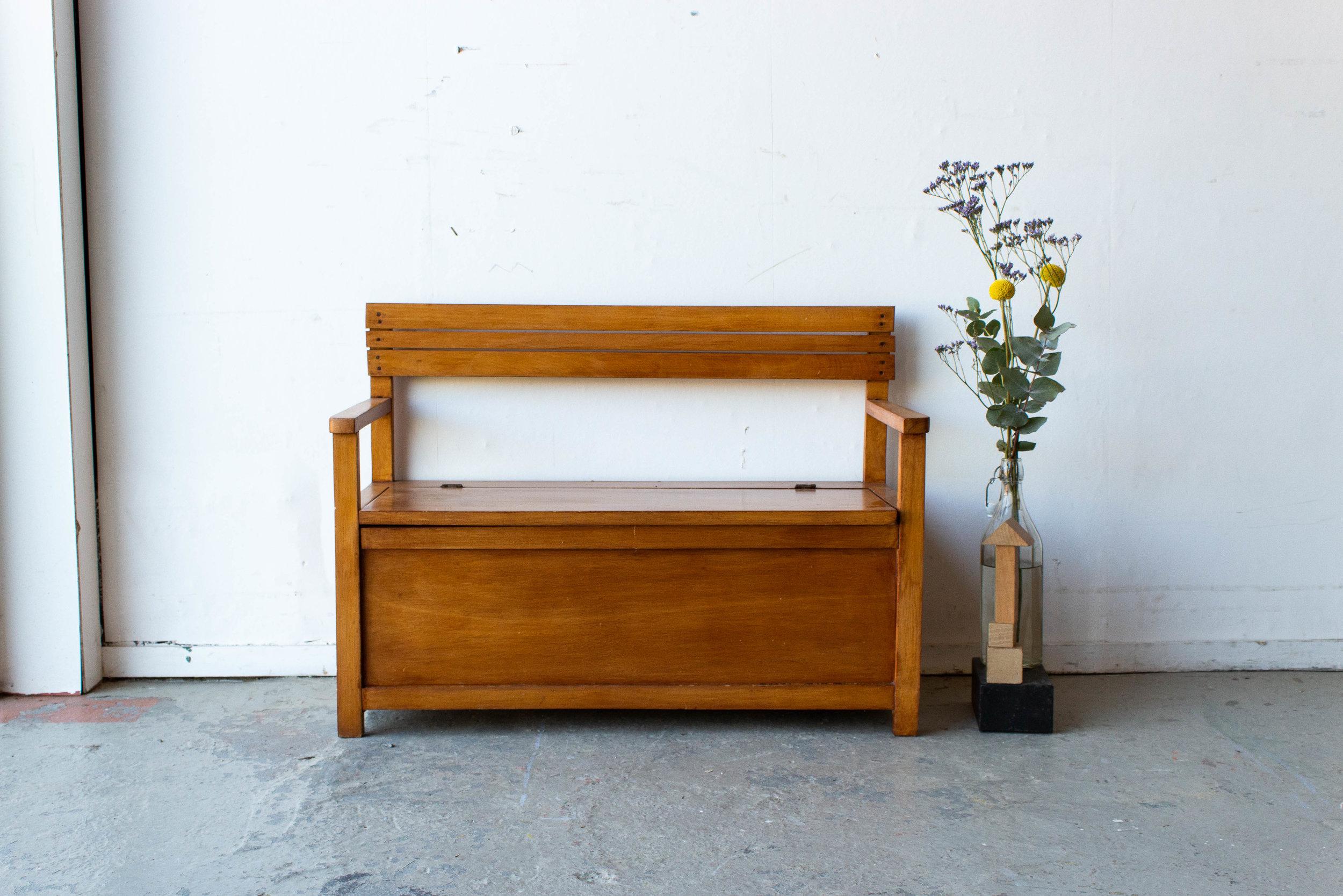 4102 - Houten vintage klepbankje-5.jpg