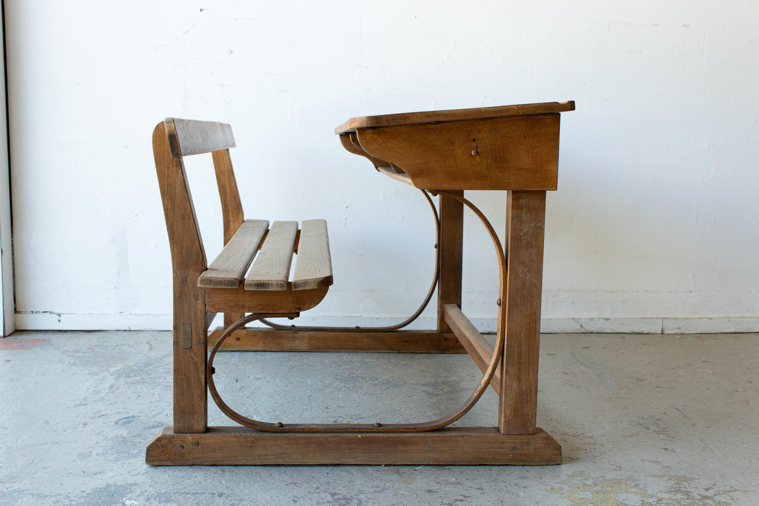 3186 - Vintage houten schoolbank-3.jpg