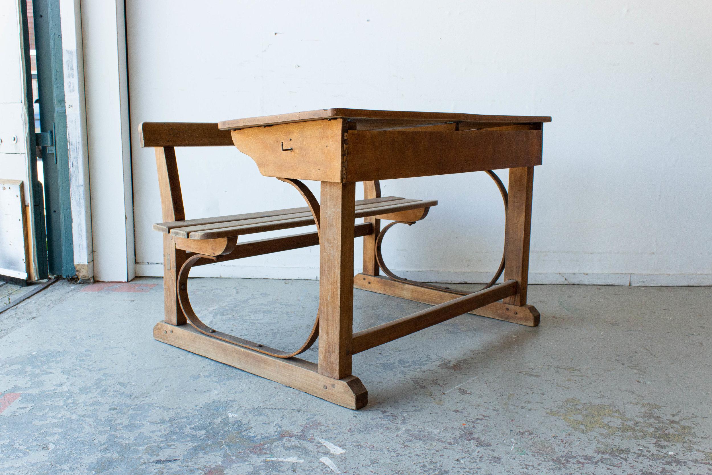 3186 - Vintage houten schoolbank-4.jpg