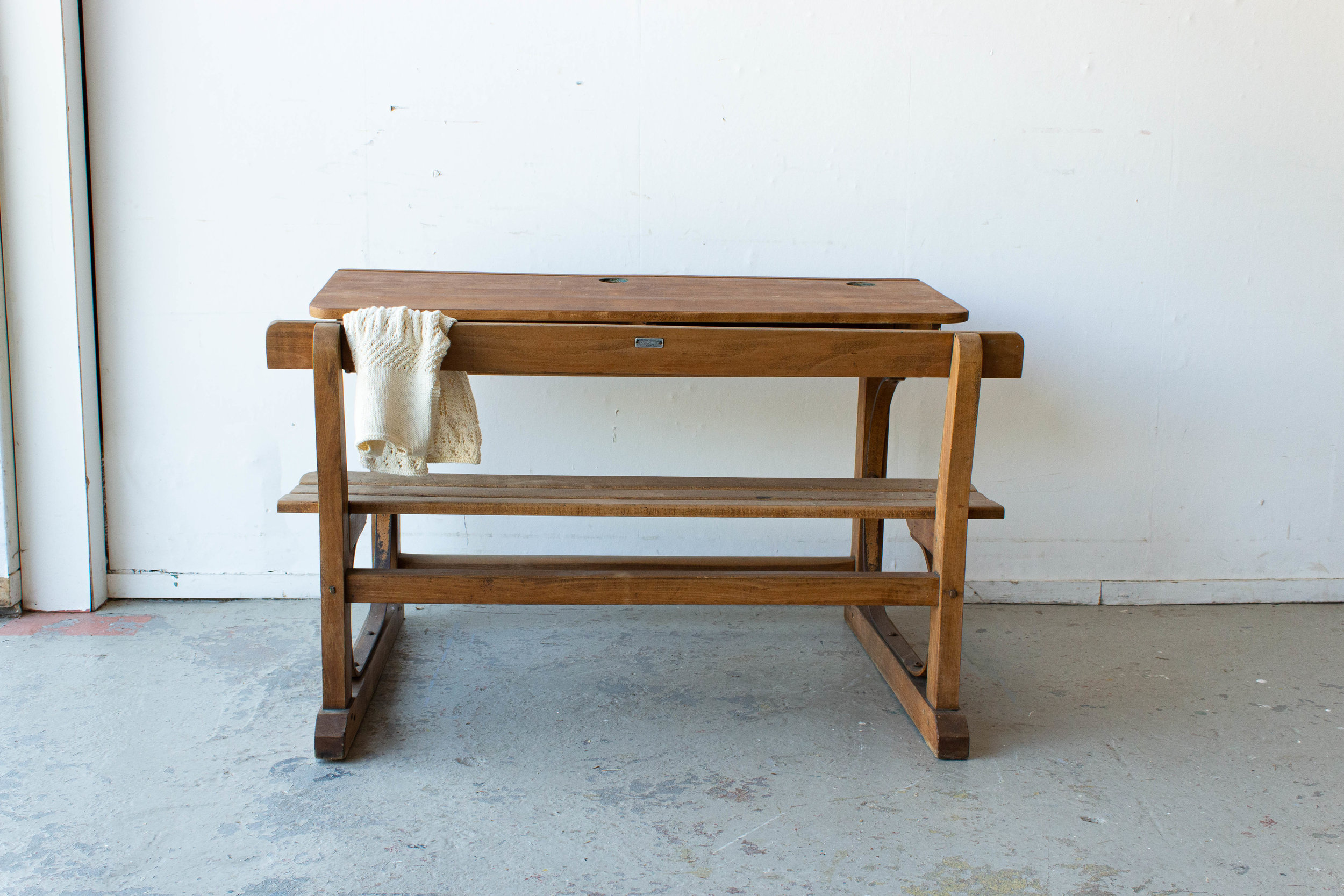 3186 - Vintage houten schoolbank-7.jpg
