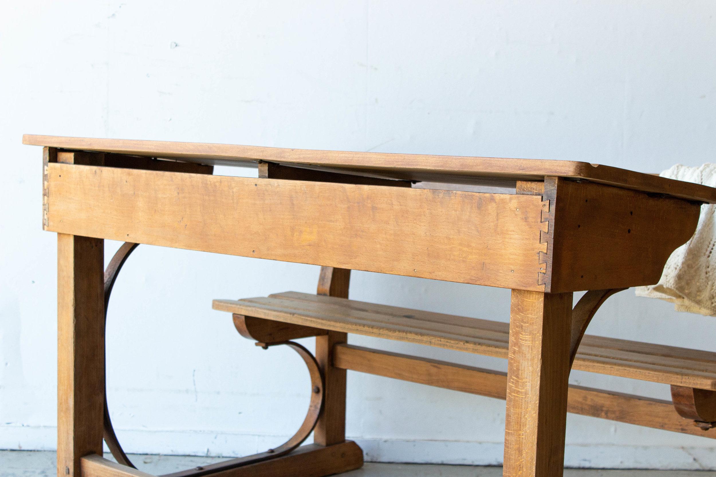 3186 - Vintage houten schoolbank-5.jpg