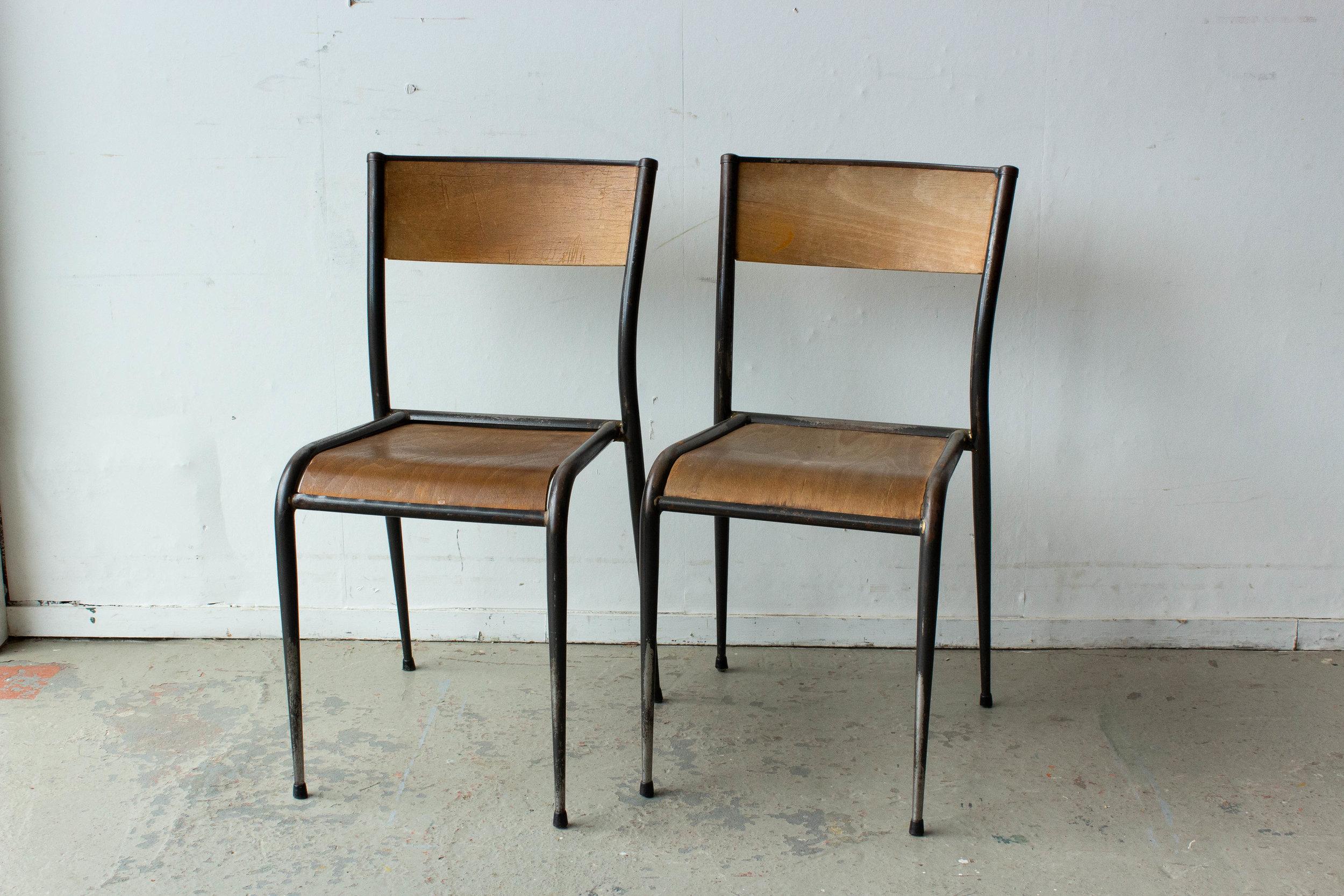 3190 - 2p vintage schooltafel zwart frame-6.jpg