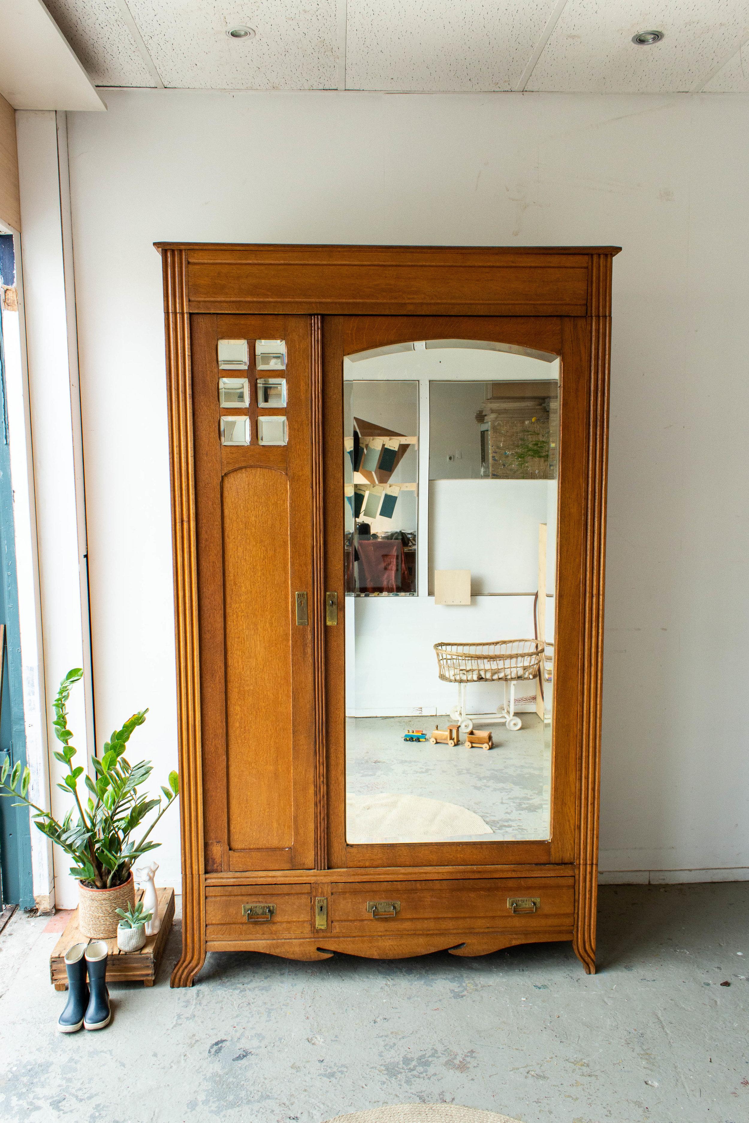 1558 - Demontabele vintage spiegelkast met vierkantjes-2.jpg