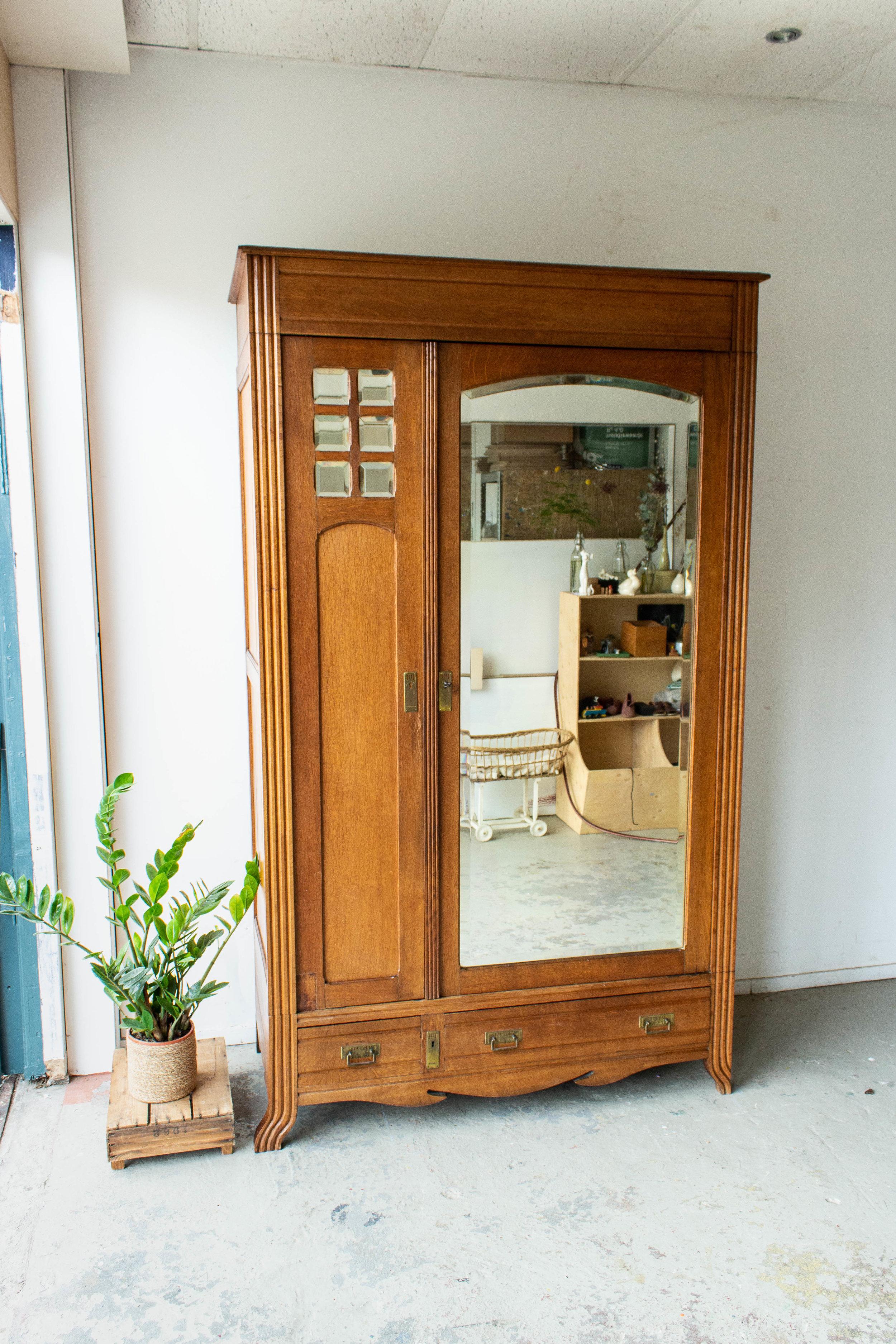 1558 - Demontabele vintage spiegelkast met vierkantjes-8.jpg