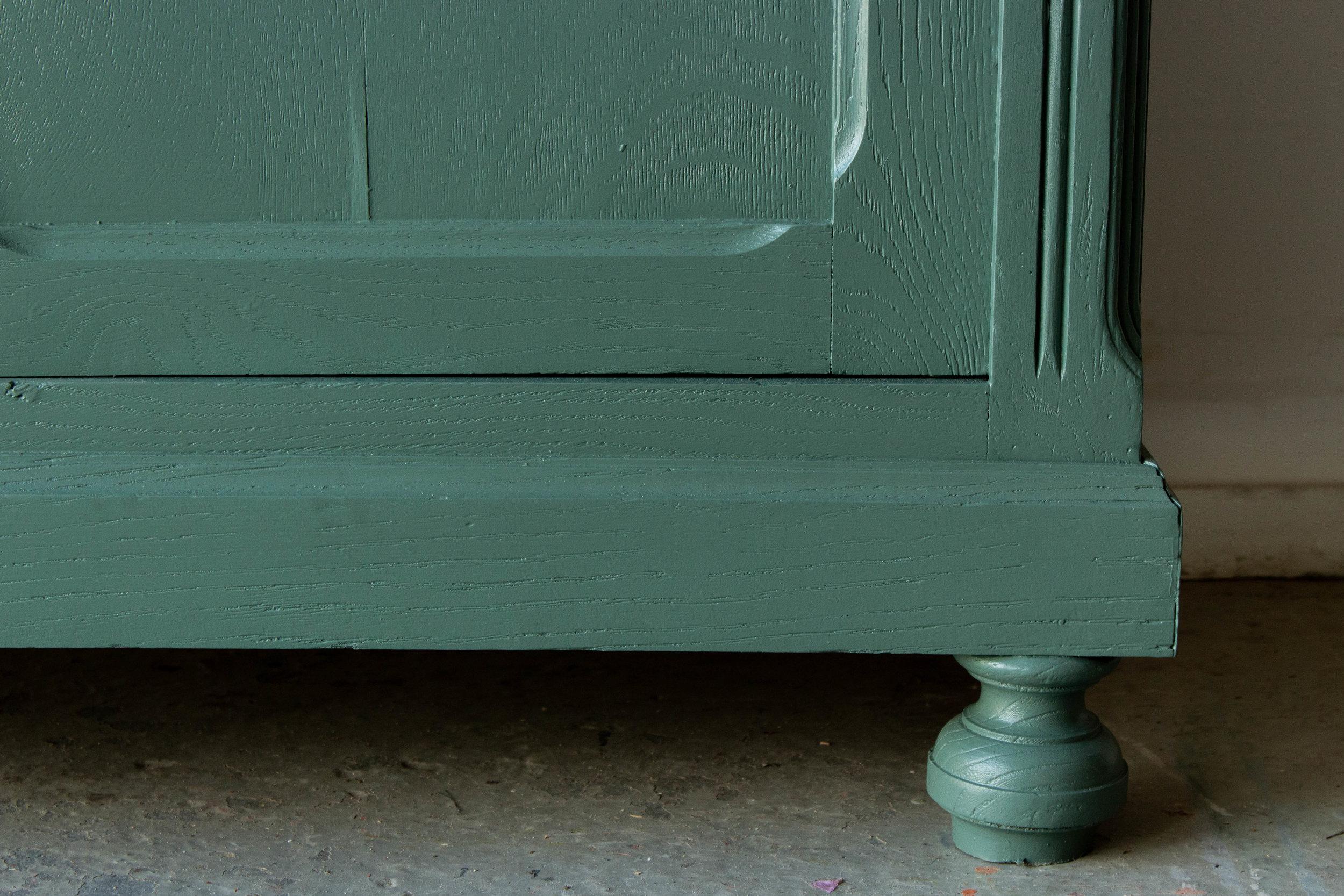 2190 - dennengroene vintage commode-5.jpg