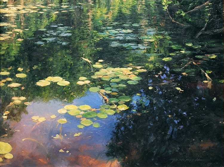"Still Water By Bradley J. Parrish    Oil on Canvas     16""h x 20""w"