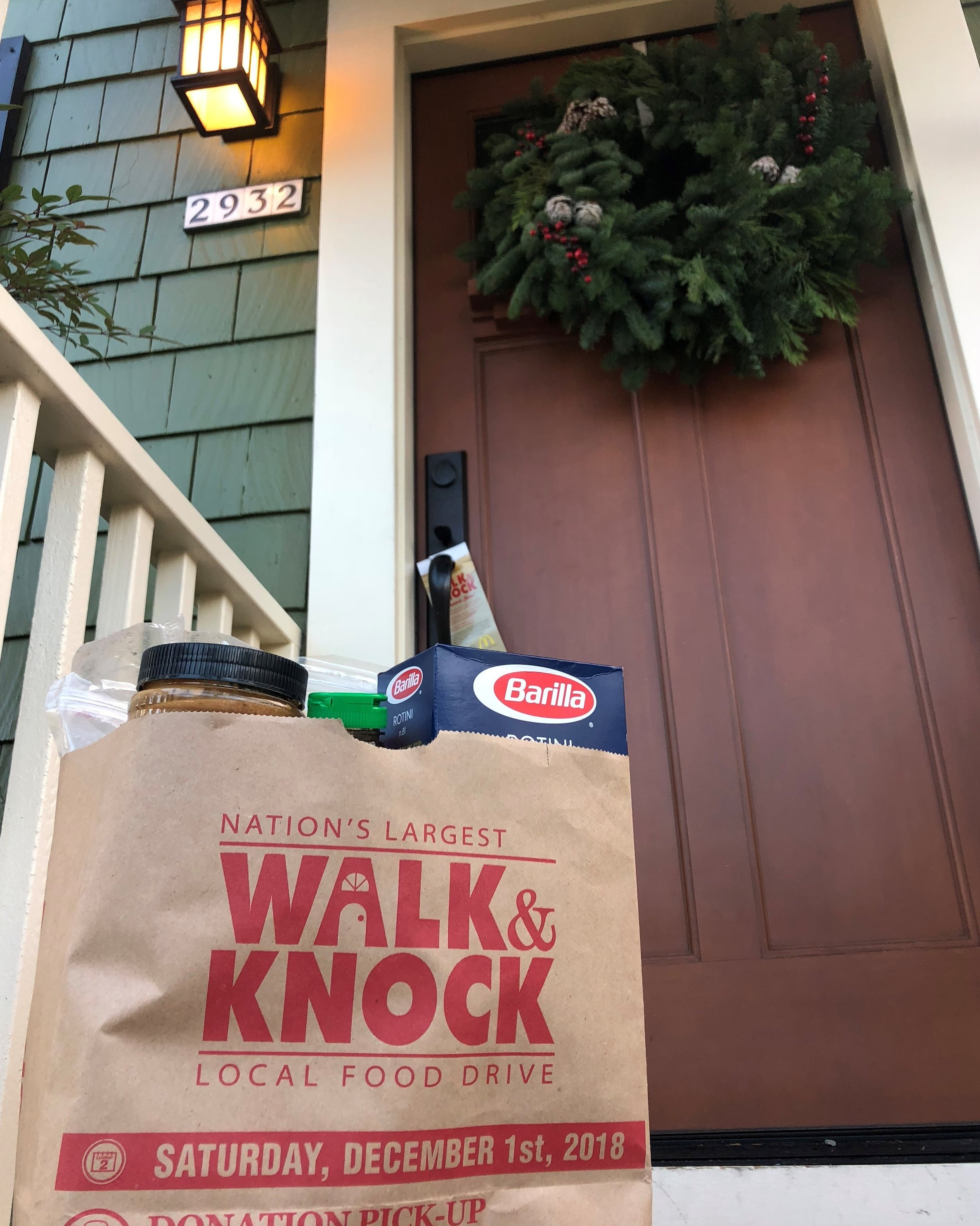 Over 150,000 Walk & Knock bags were distributed, filled, and collected during the food drive this year.