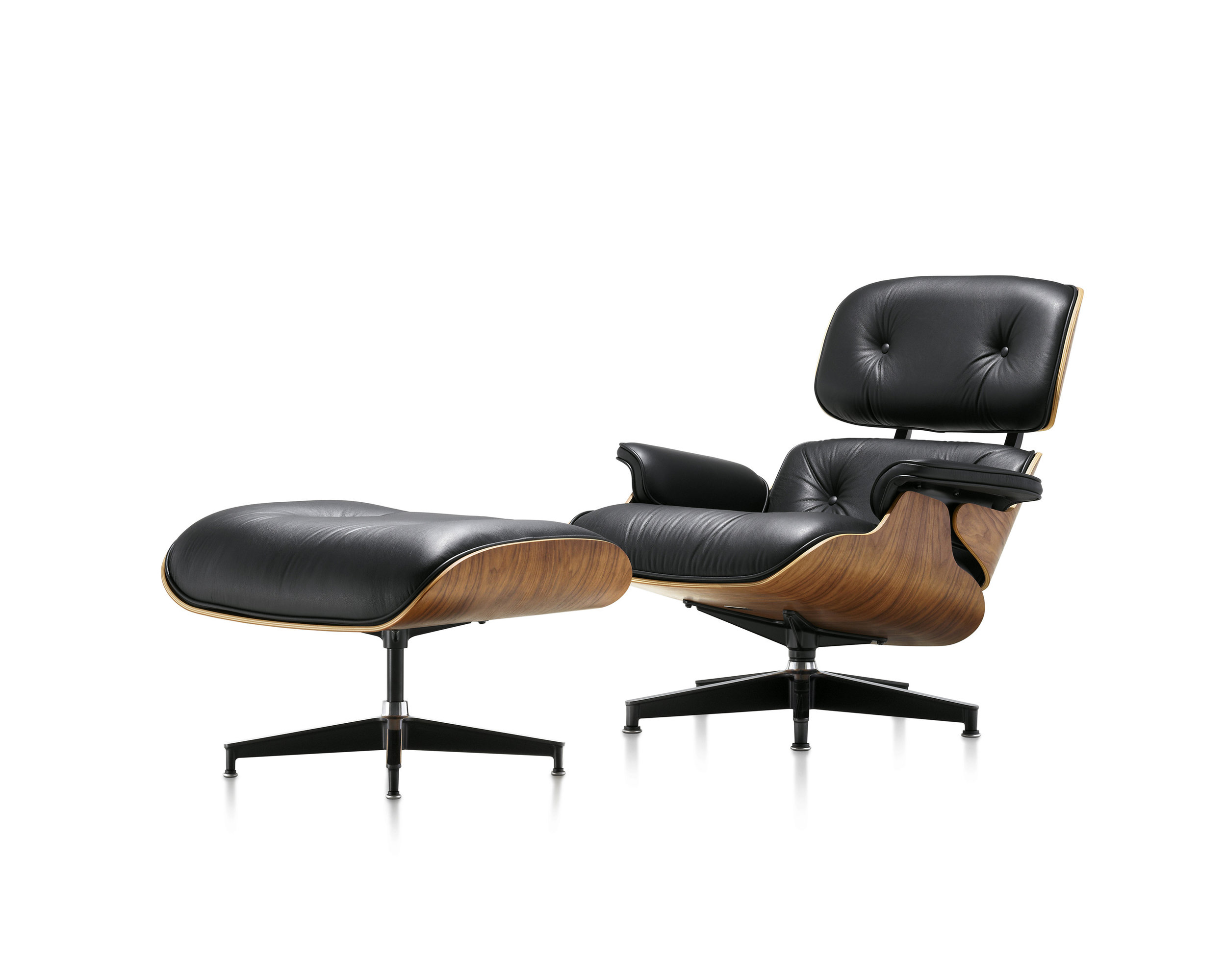 Eames Lounge and Ottoman Walnut- Black Leather.jpg