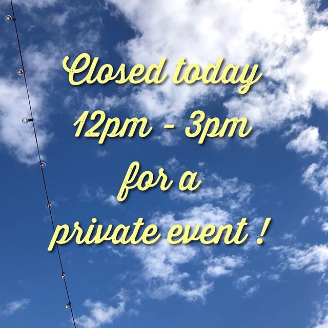 See you after our private event today! ✌️😎