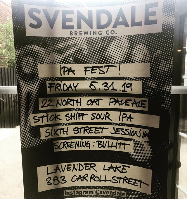 Calling all beer lovers! We're hosting three new beers from our friends @svendale ! Come through and have a brew (or 3) in our back yard 🍻😘😎 . . . . . #ipafest #souripa #sessionipa #paleale #svendale #stickshiftsouripa #sixthstreetsessionipa #22northoatpale #eastcoastbeer #fridaynite #backyardweather #brews #babes #localsonly #drinklocal #gowanus #brooklyn